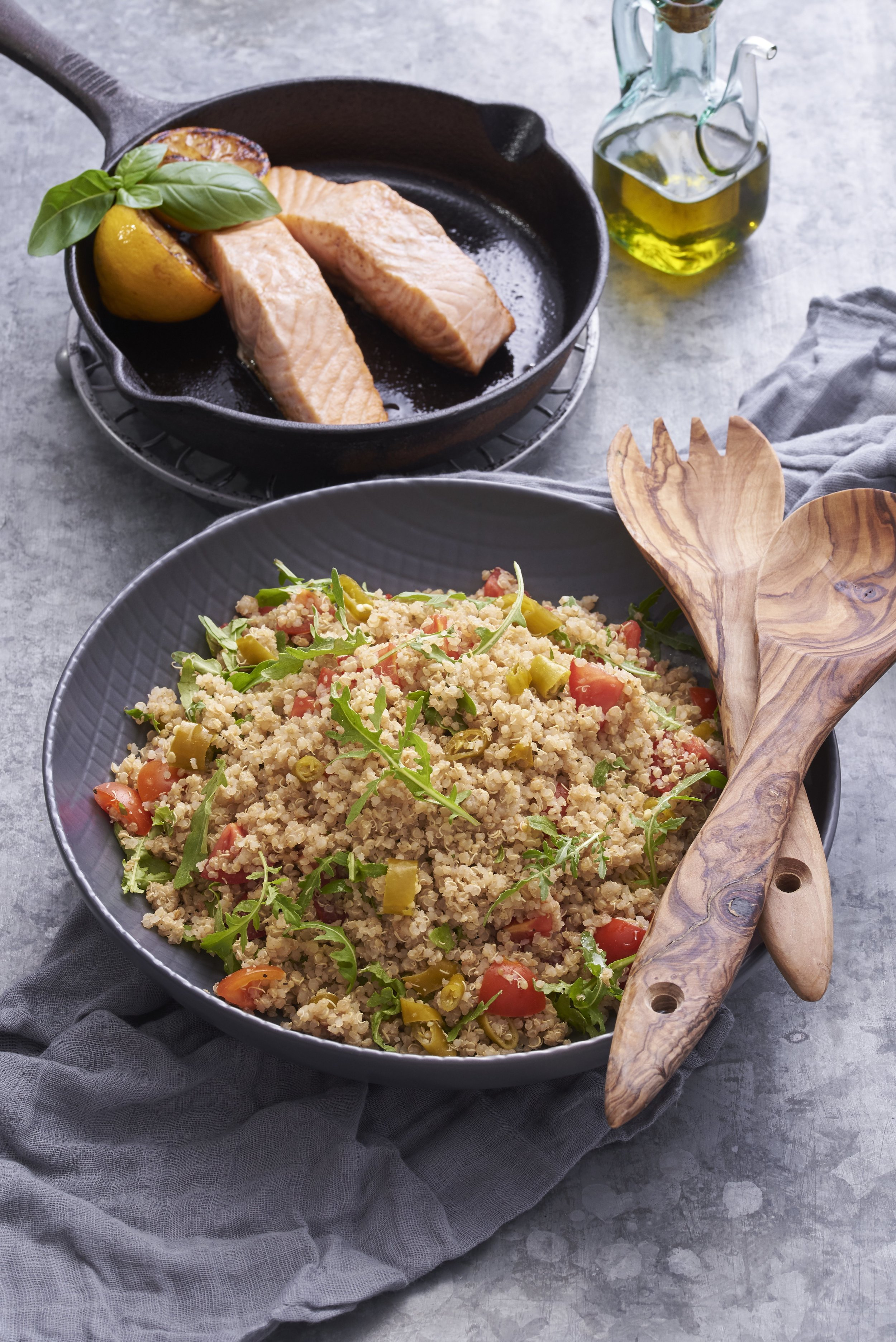 Mediterranean Quinoa with Pepperoncinis