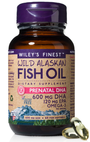 Wiley's Finest Wild Alaskan Fish Oil Prenatal DHA