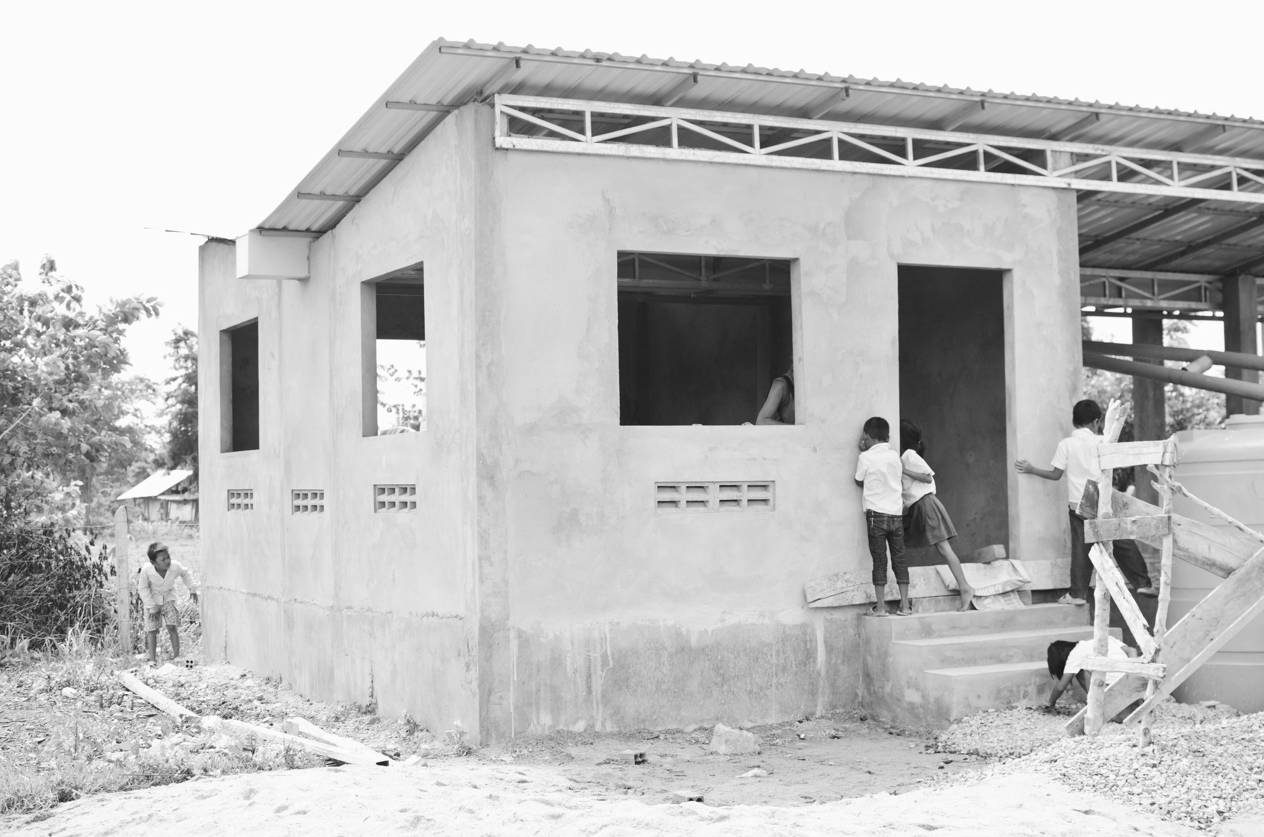 The completed clinic just before the windows were installed