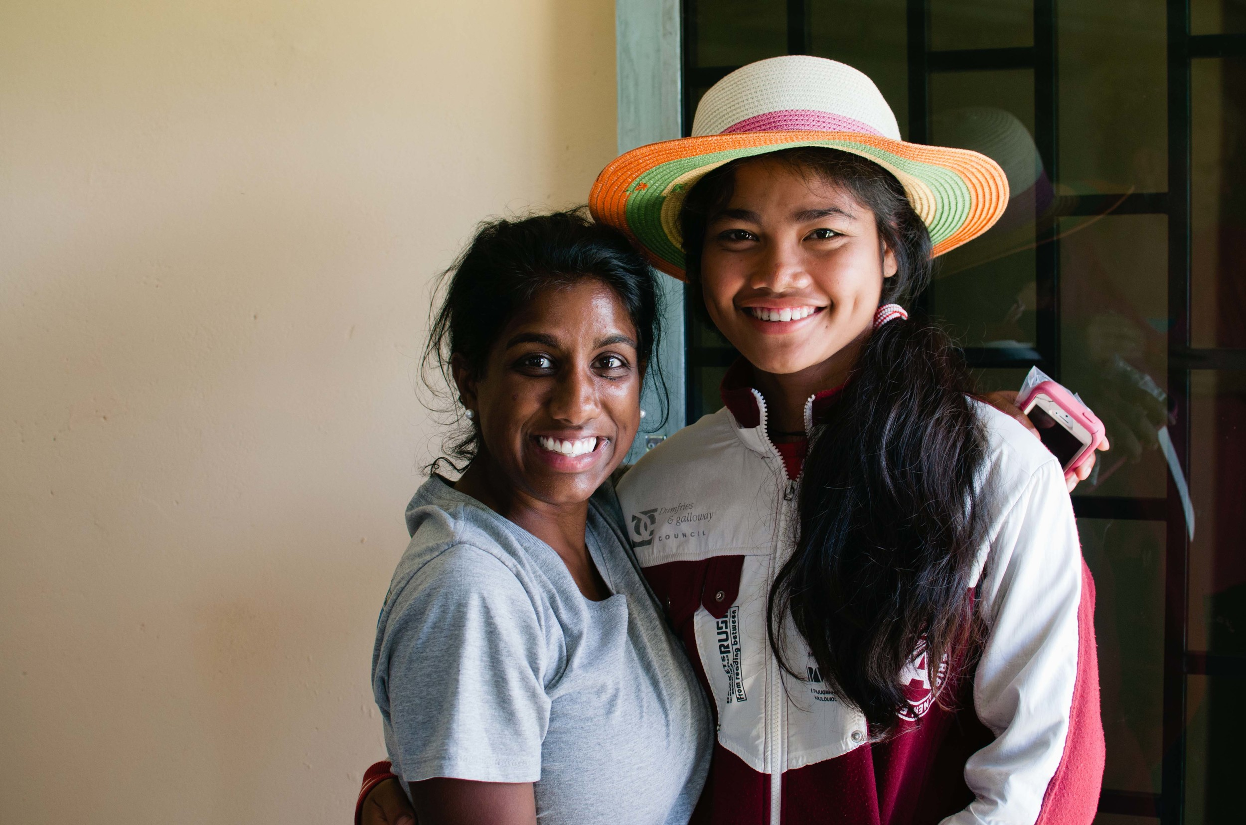 Srey Mom with Amreitha, our Director of Advocacy