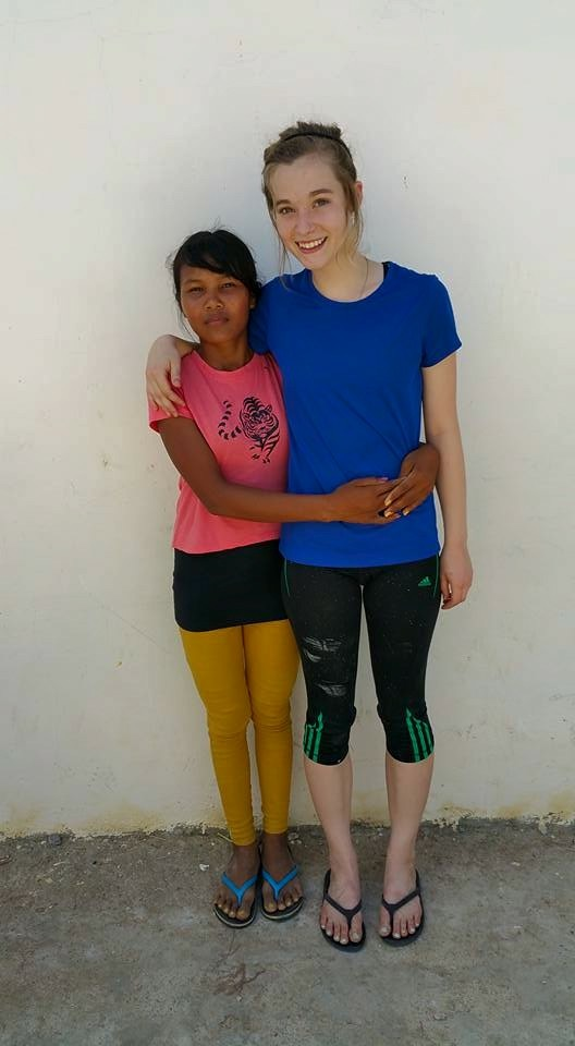 What a difference proper nutrition makes. This picture was taken this past summer of the same two girls. Due to increased nutrition, Nik's body is growing fast. Both girls are now 15 years of age and the size gap has lessened significantly. How grateful we are to see the amazing ways God has been at work!