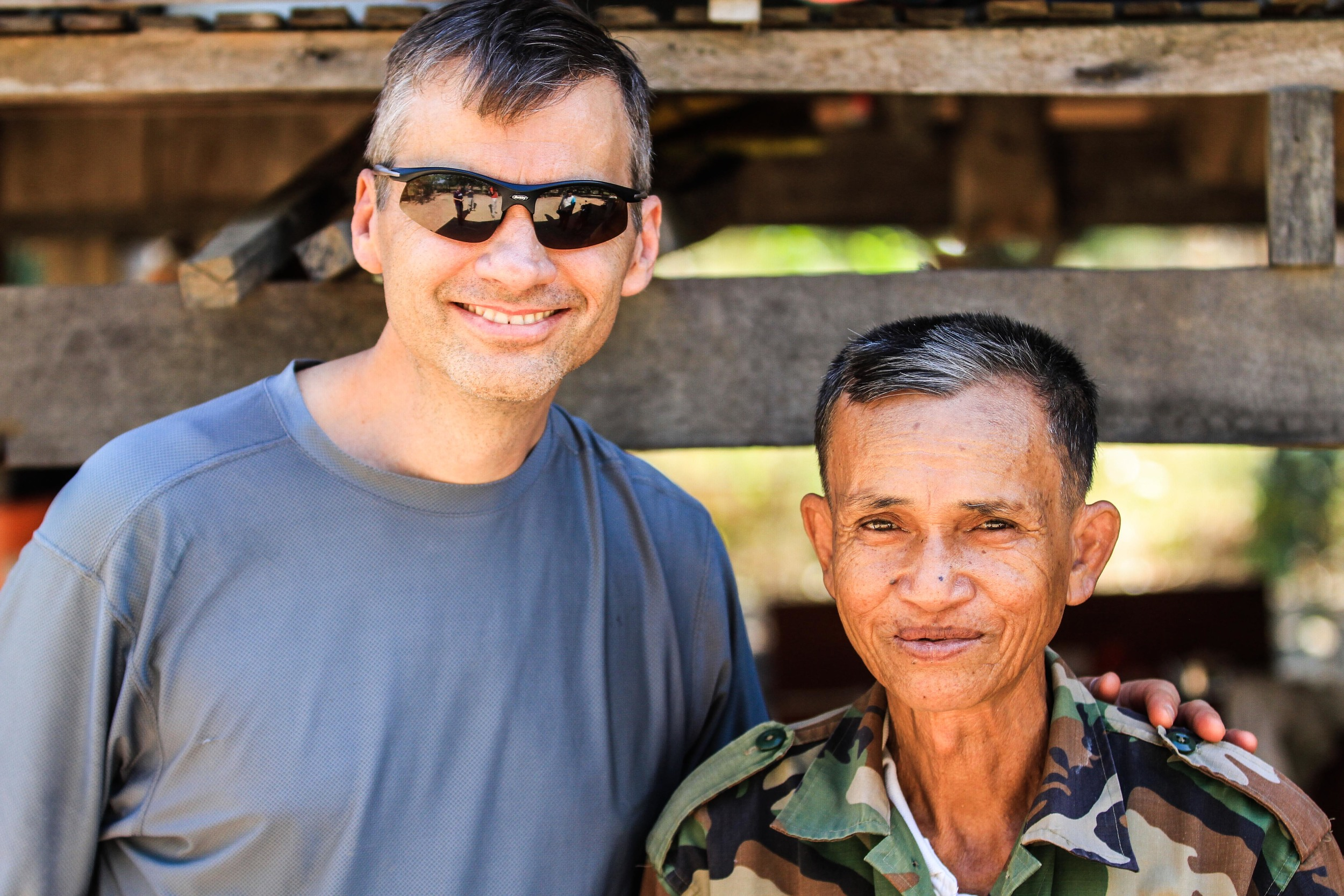 Todd with one of the village leaders.
