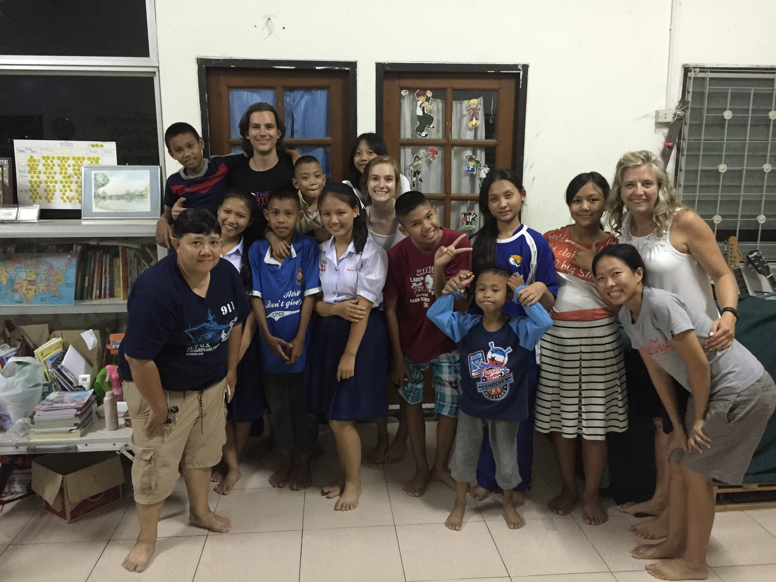 The sweet children and staff of Blossom Home Orphanage