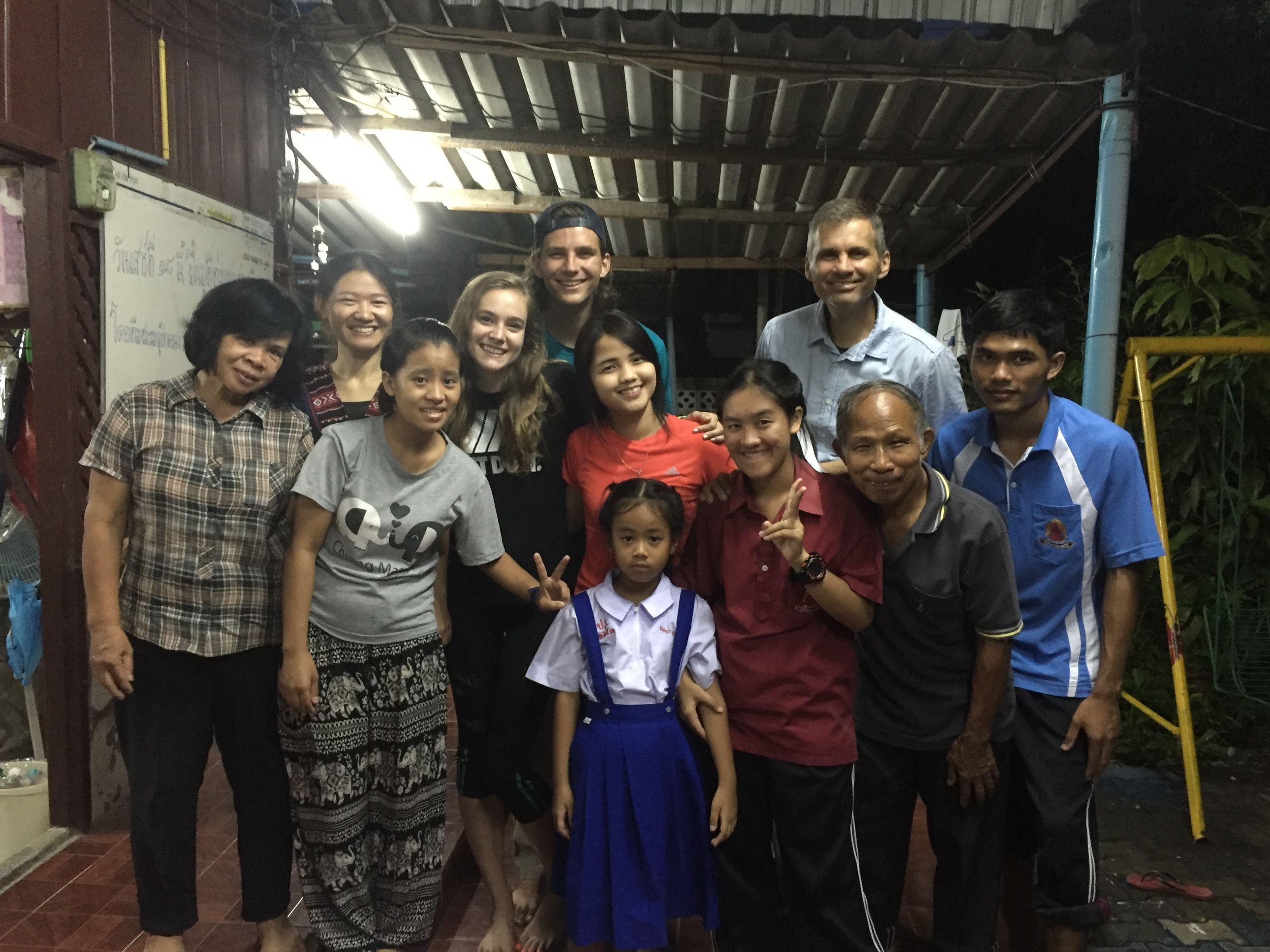 A few of the delightful children and staff at Huen Nam Jai Orphanage