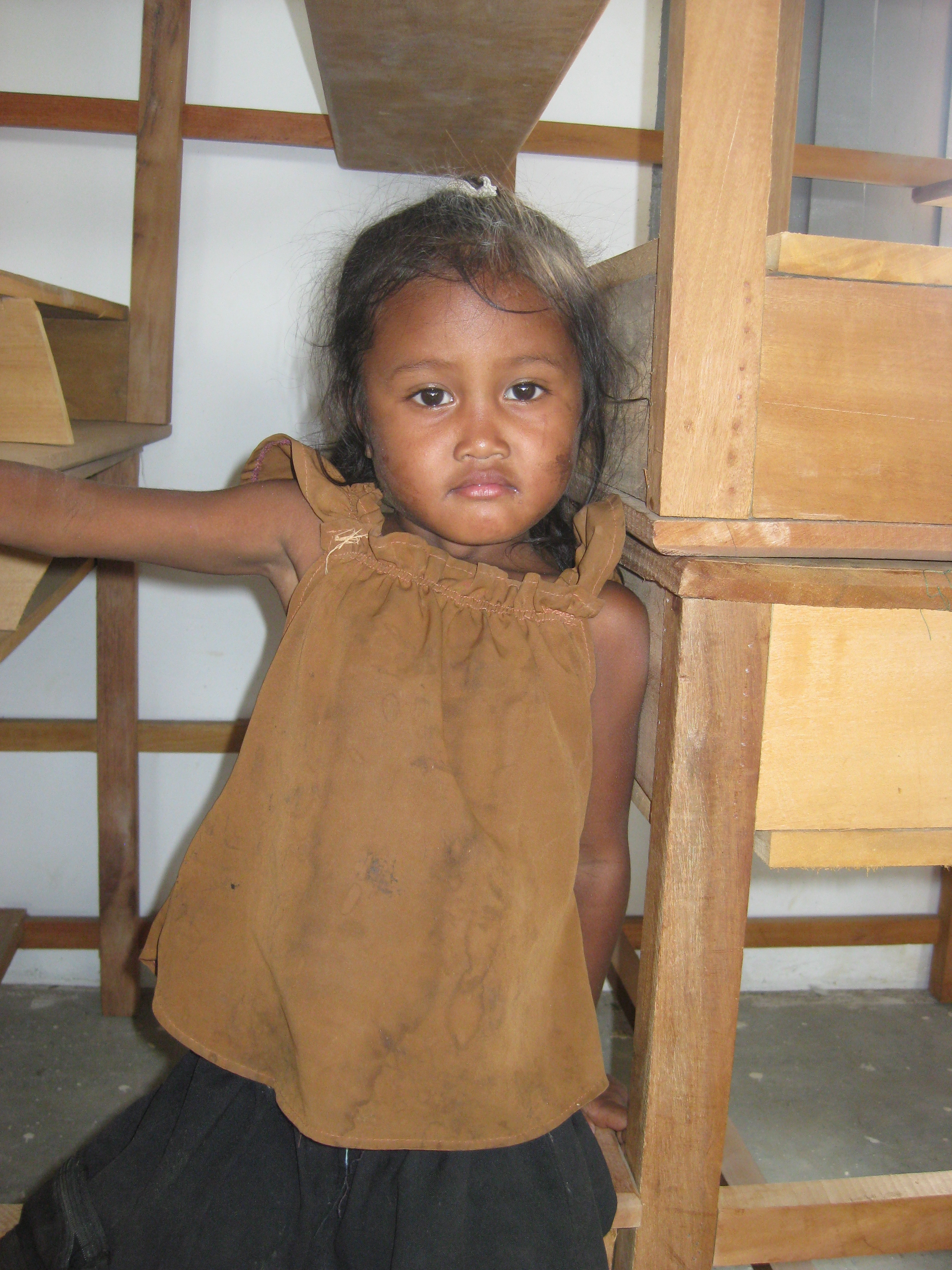 Three year old Naa, the first time I met her (2009).