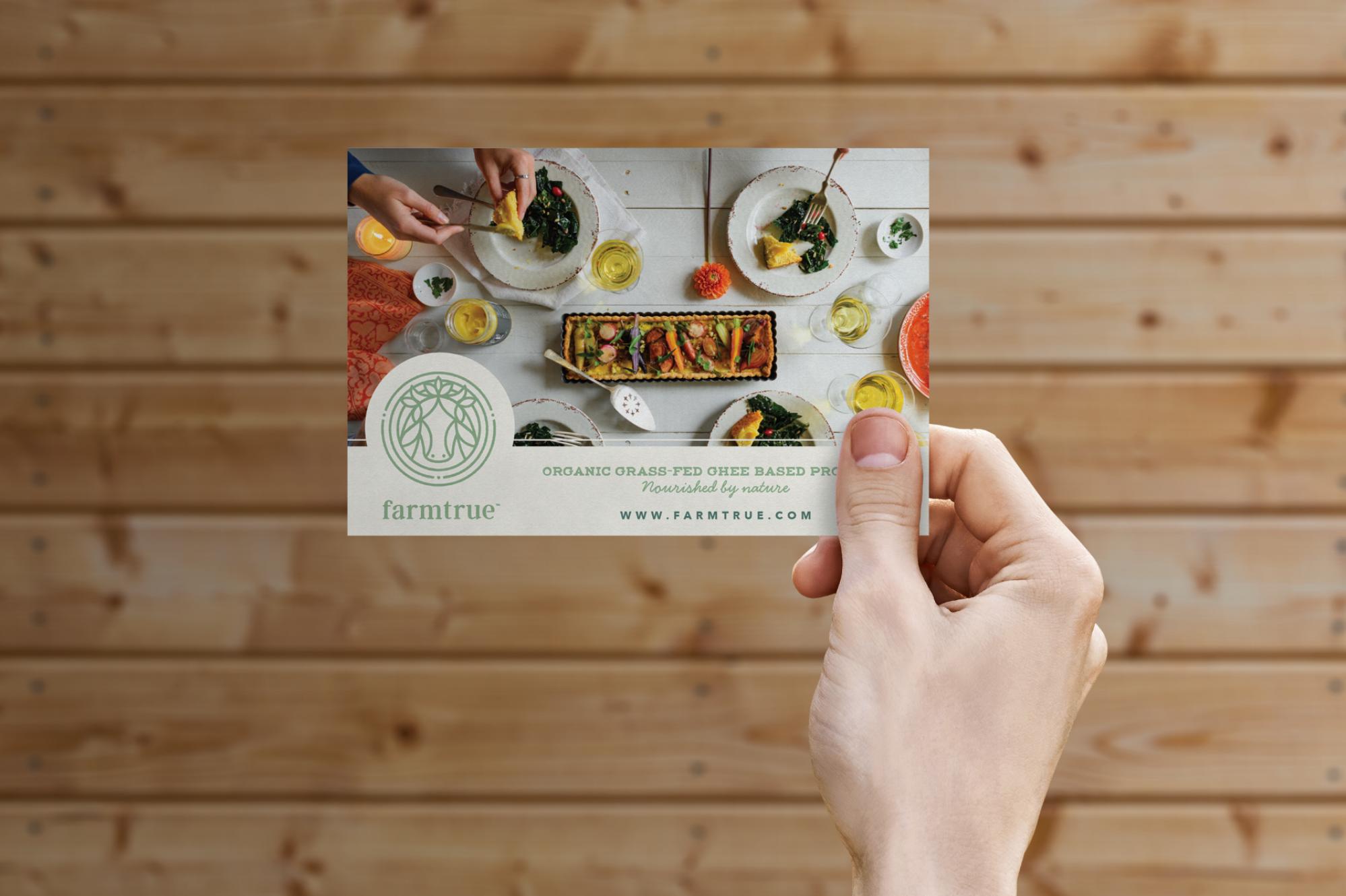 farm true postcard design