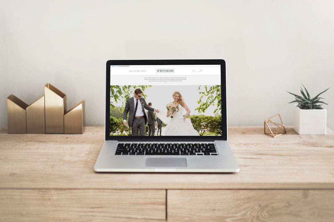 my mystic wedding web design