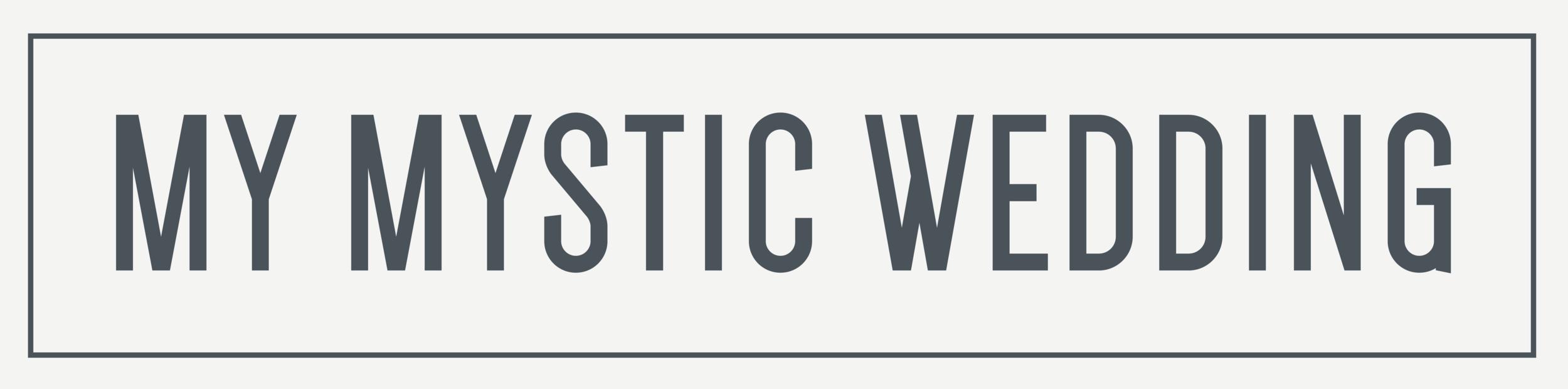 my mystic wedding logo design