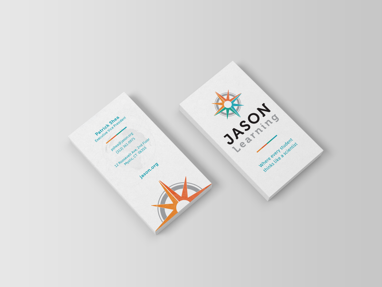 jason learning business card design