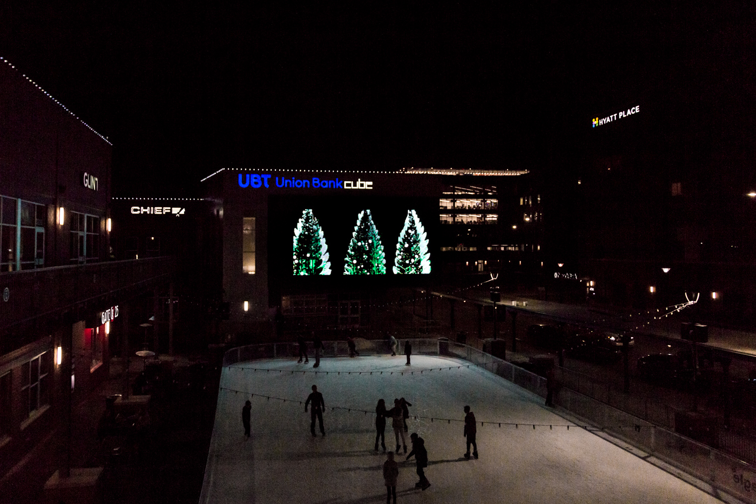 Pine Tree Slide  playing on the Cube at the Railyard Photo credit: ColorKey Media