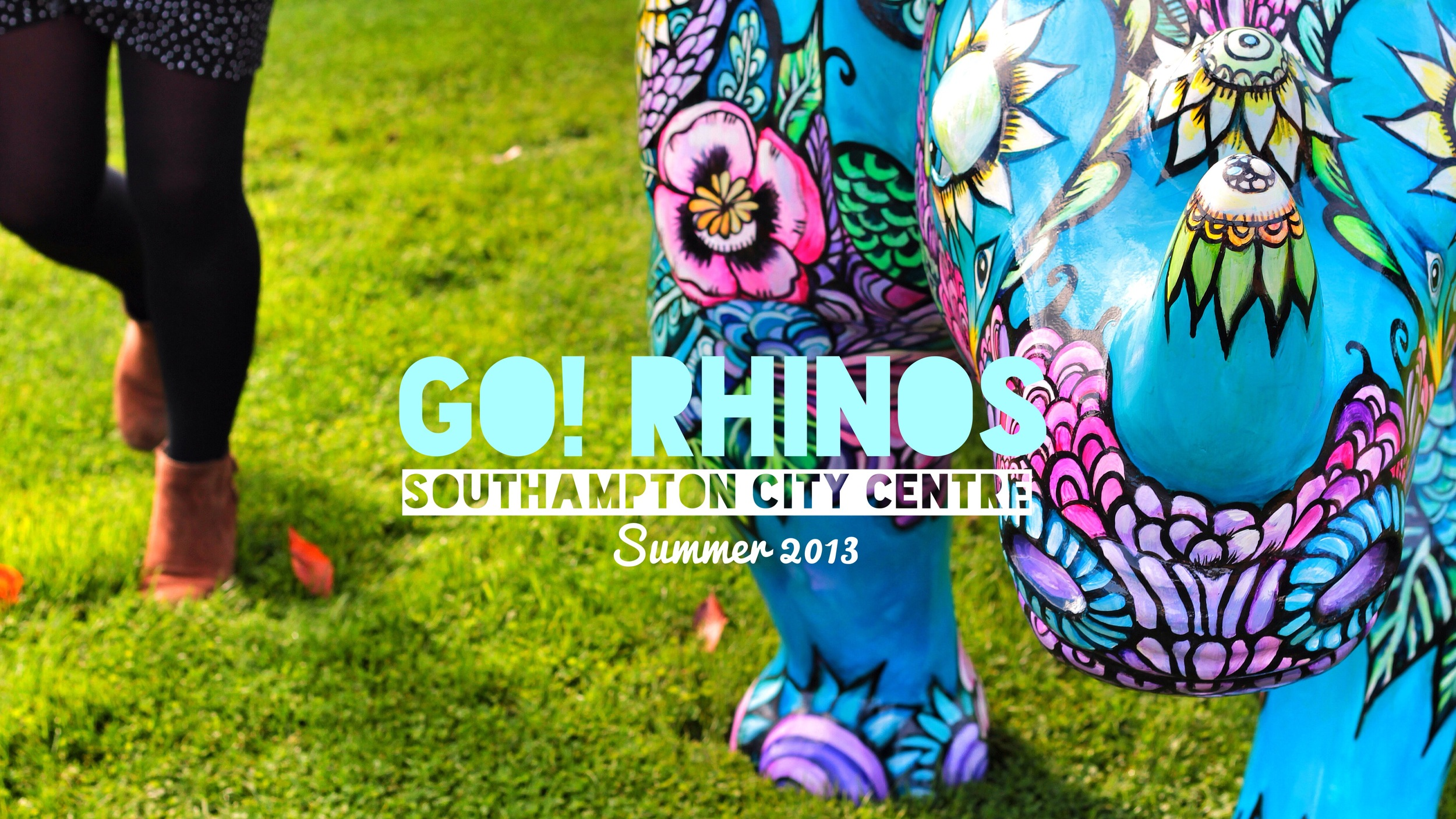 Go Rhinos - a Wild in Art event for Marwell Zoo