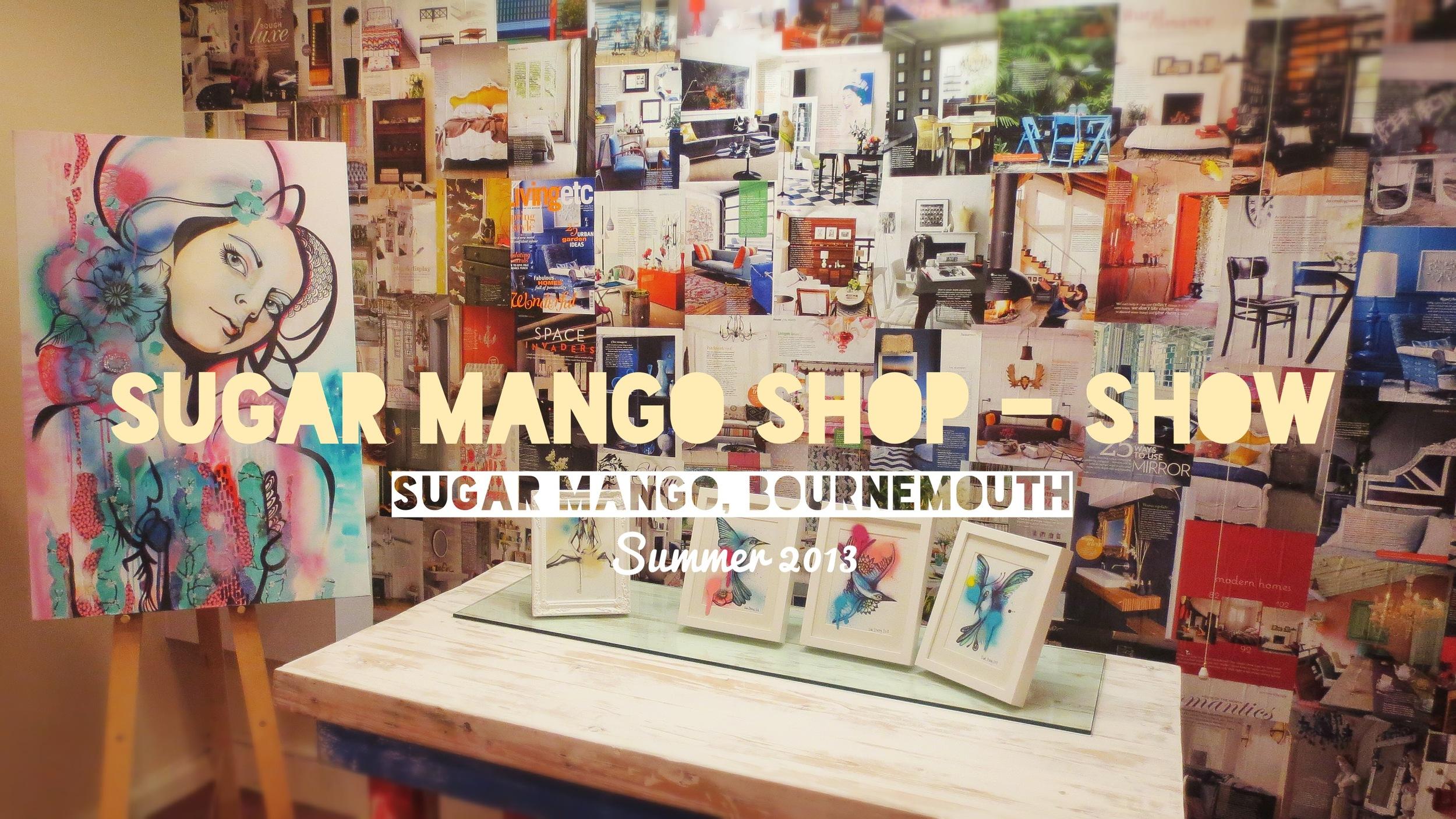 Sugar Mango - a solo exhibition in a boutique shop