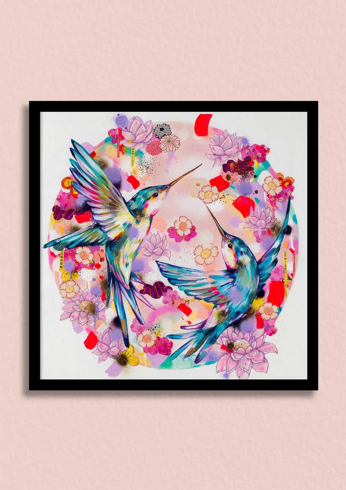 OSAKA SUNRISE - Wake up to the beautiful glow of a Japanese sunrise, with this spectacular hummingbird print.Unframed giclée print £150Framed giclée print £220