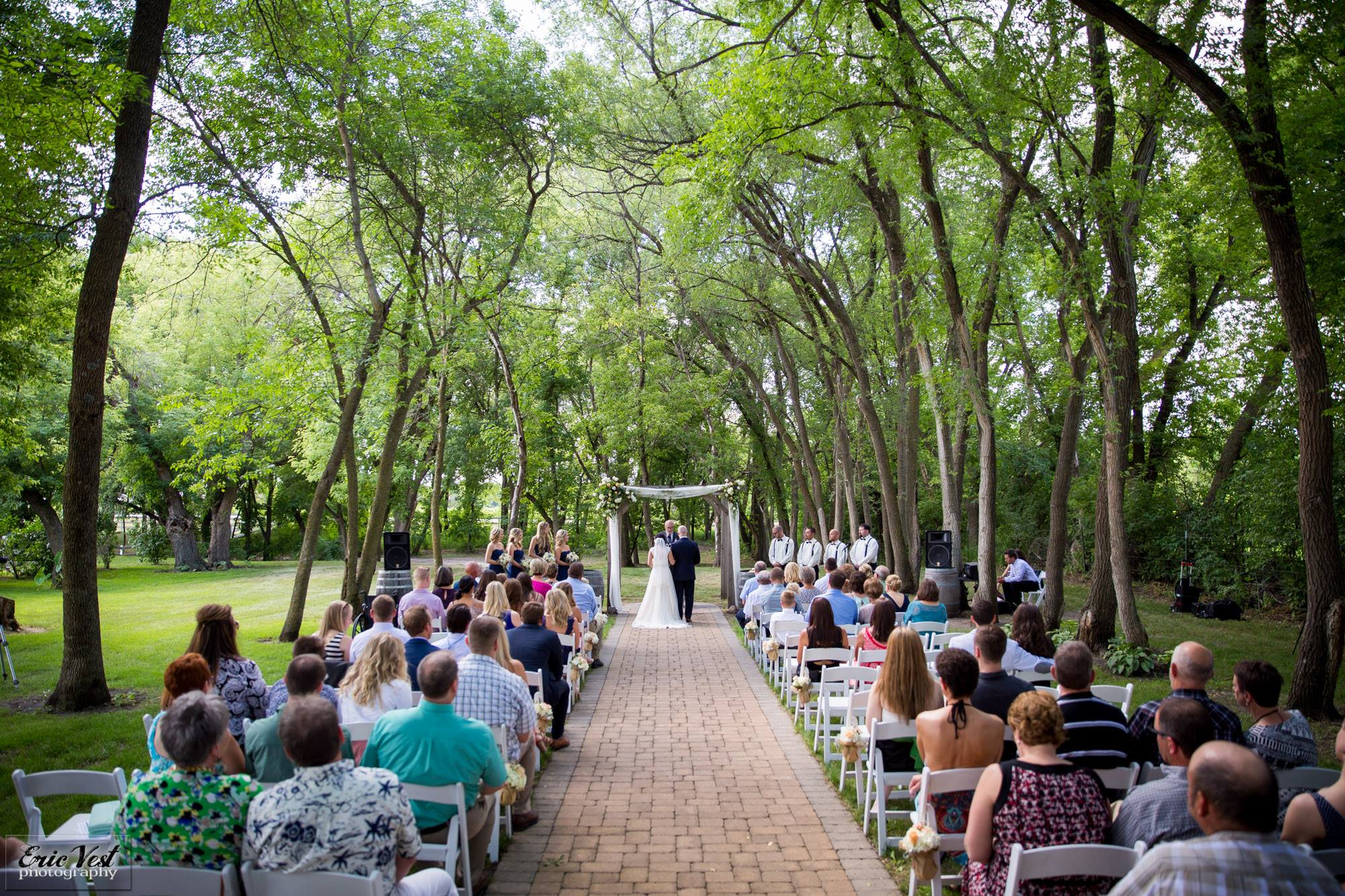 Outdoor Ceremony at Carlos Creek Winery