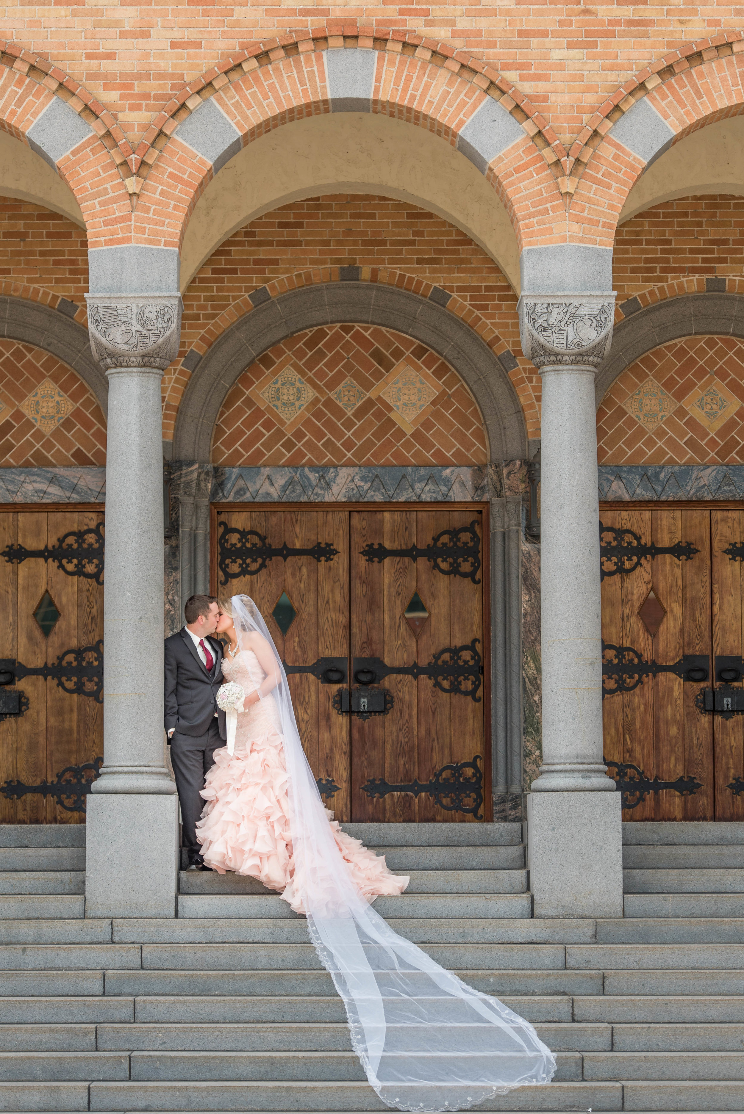 St. Mary's in downtown St. Cloud provided a majestic location for Mariah and Mike