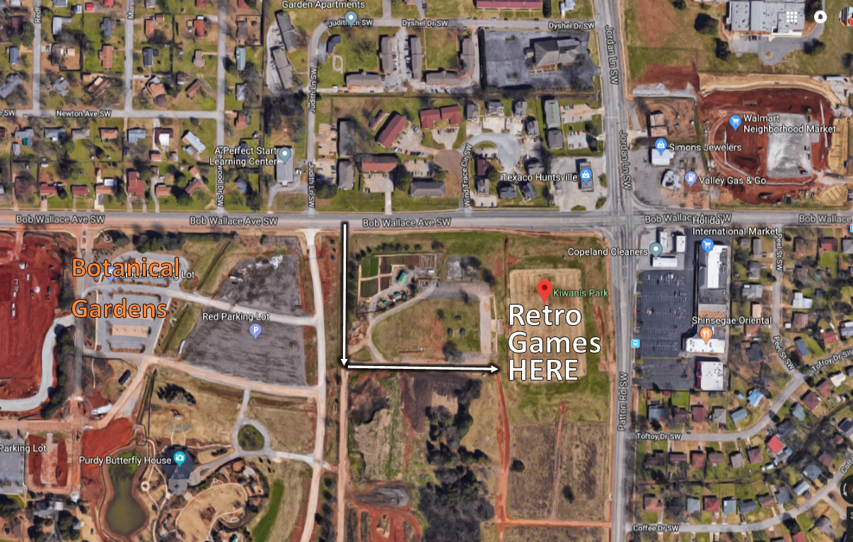 ** Change of Location for the games on Sunday ** We will now be playing at the Kiwanis Soccer Park located at 4201 Bob Wallace Ave. The field is at the corner of Bob Wallace and Jordan/Patton. The turn-in can be tricky to see, but it is next to the Huntsville Botanical Gardens and the CASA Gardens.