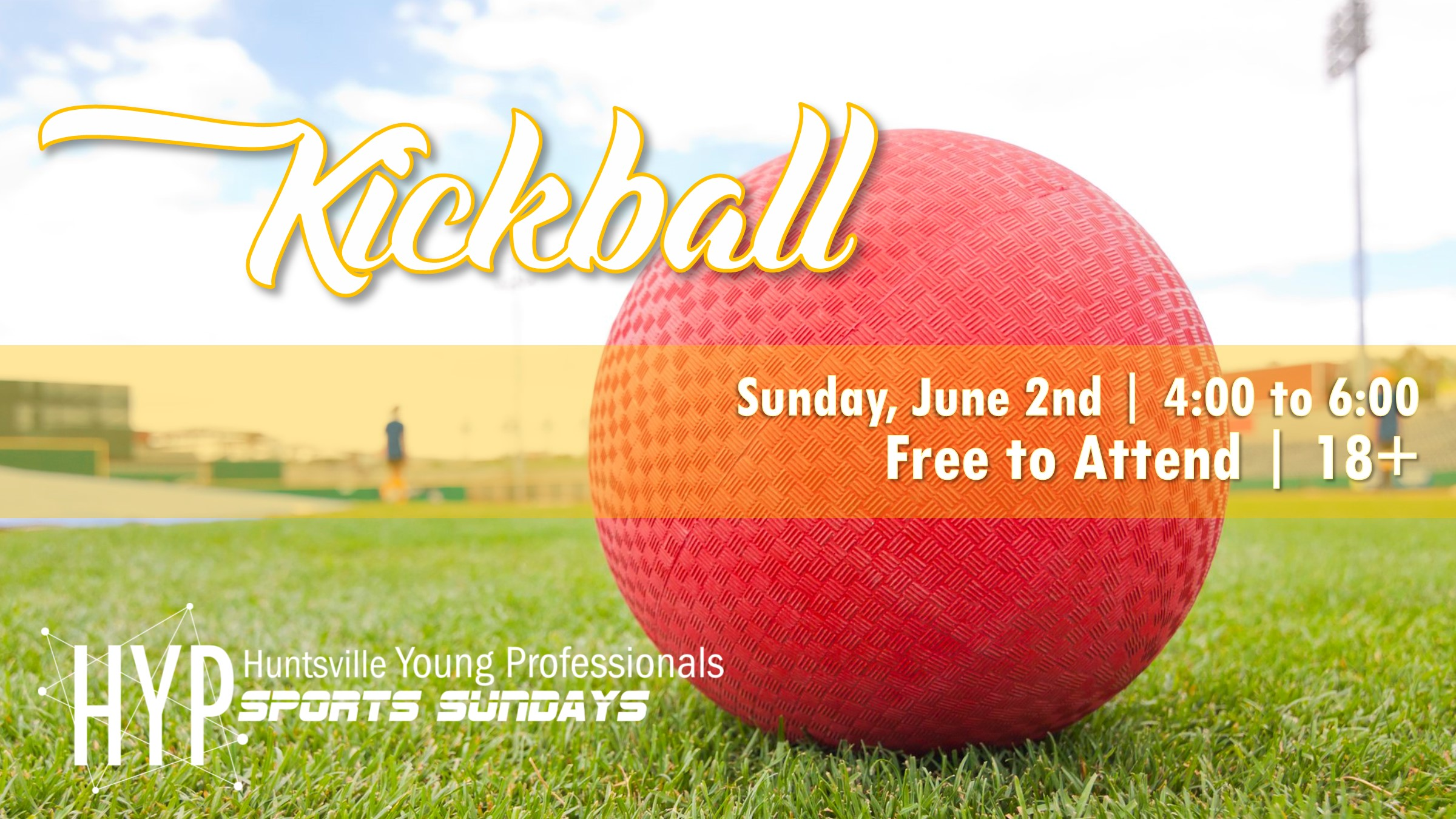 For the third iteration of Sports Sundays we will be playing Kickball. Think the skills you developed in grade school carried over to adulthood? Find out on June 2nd from 4:00 to 6:00 pm. Be sure to join the Facebook  Event  to stay up to date.