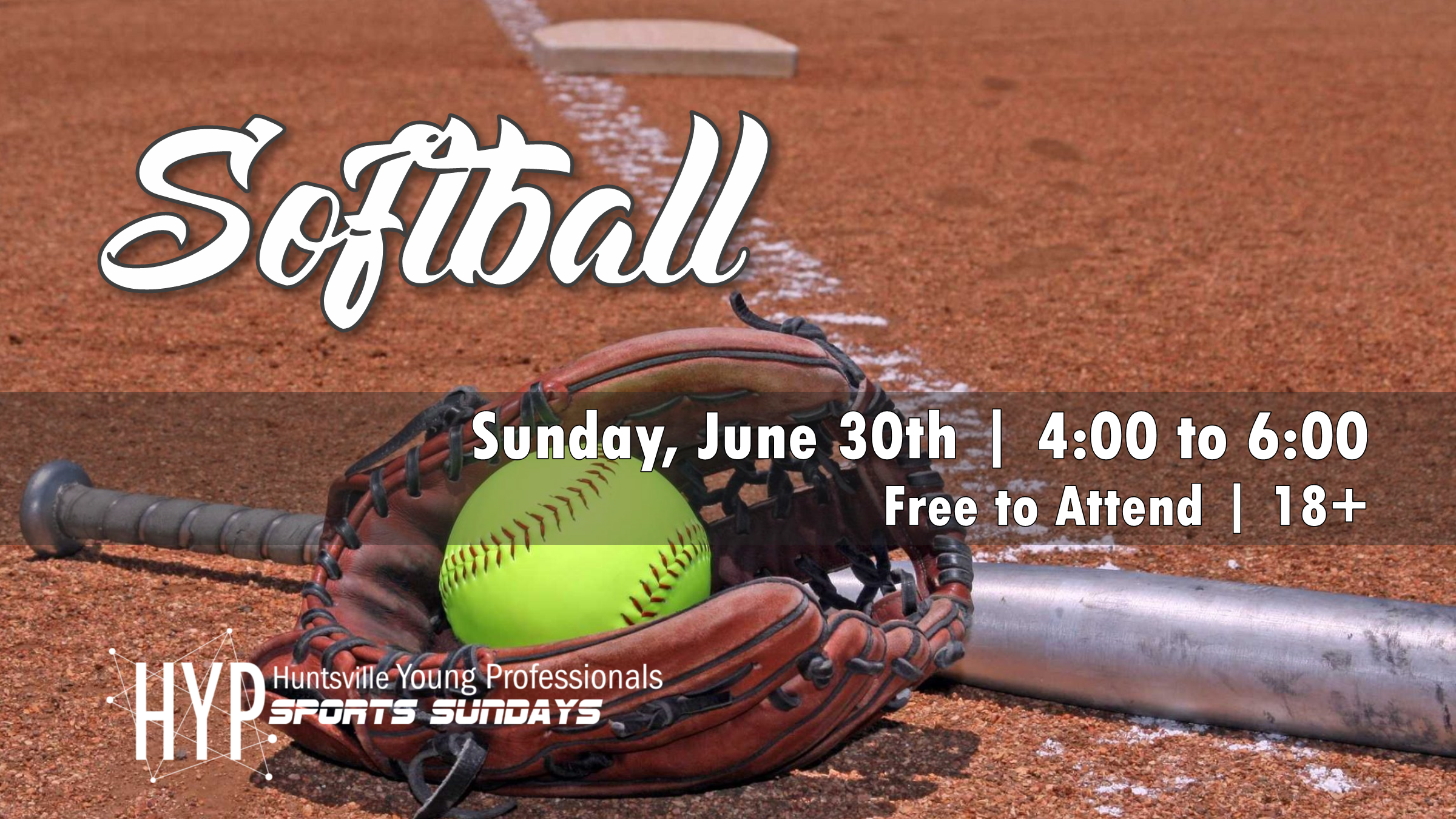 Sport 5 is softball. Who's ready to hit some home runs? If you have your own glove and bat be sure to bring it. Join us June 30th from 4:00 to 6:00 pm. To stay up to date be sure to join the Facebook  Event .