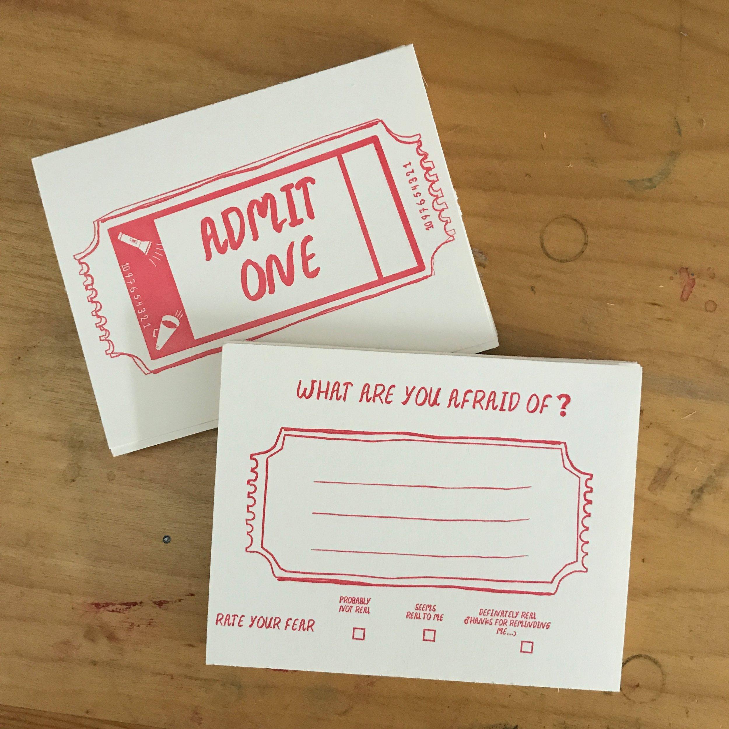 Postcard design for Gutwrench Press