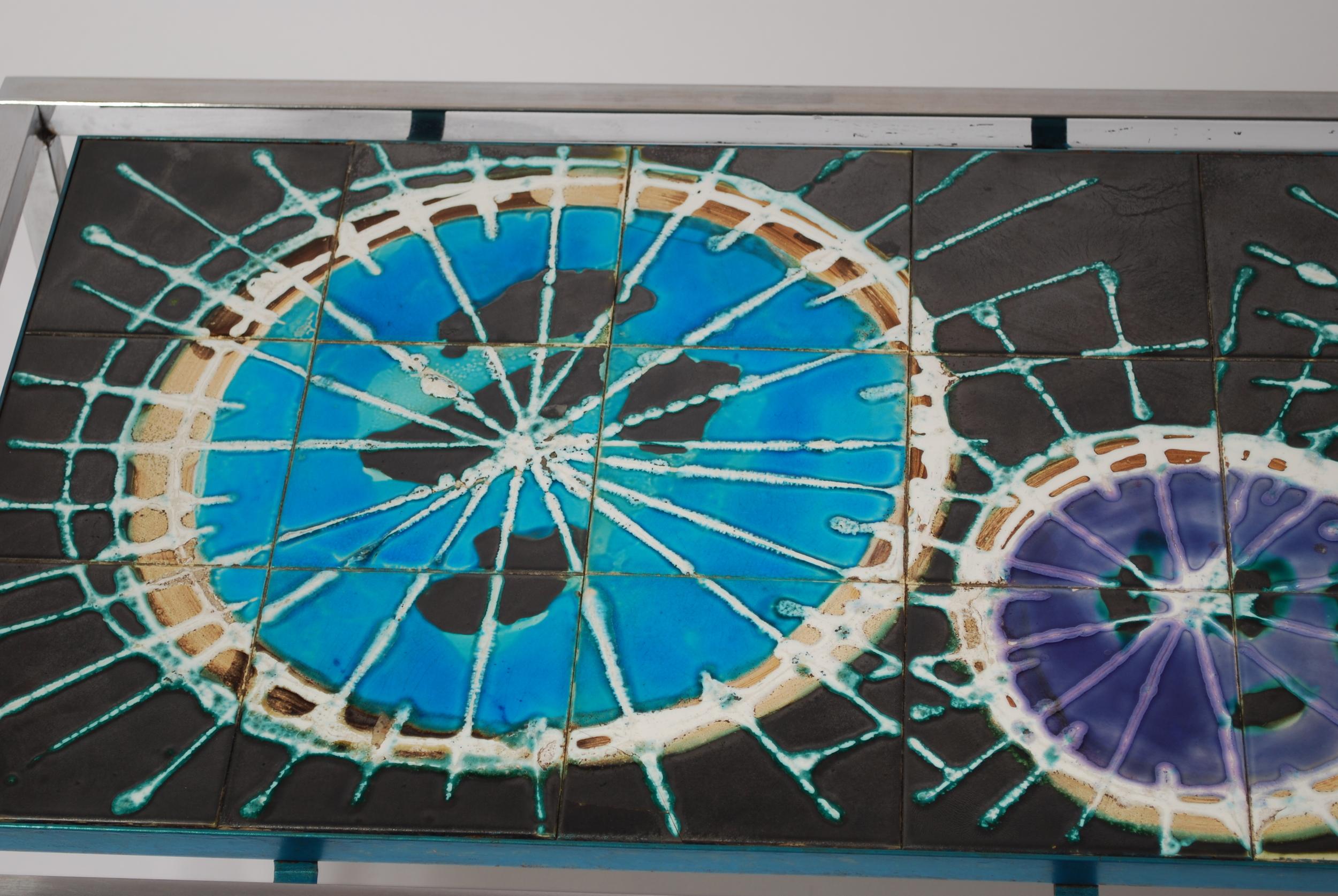 Tile table, J. Belarti Belgium 60's