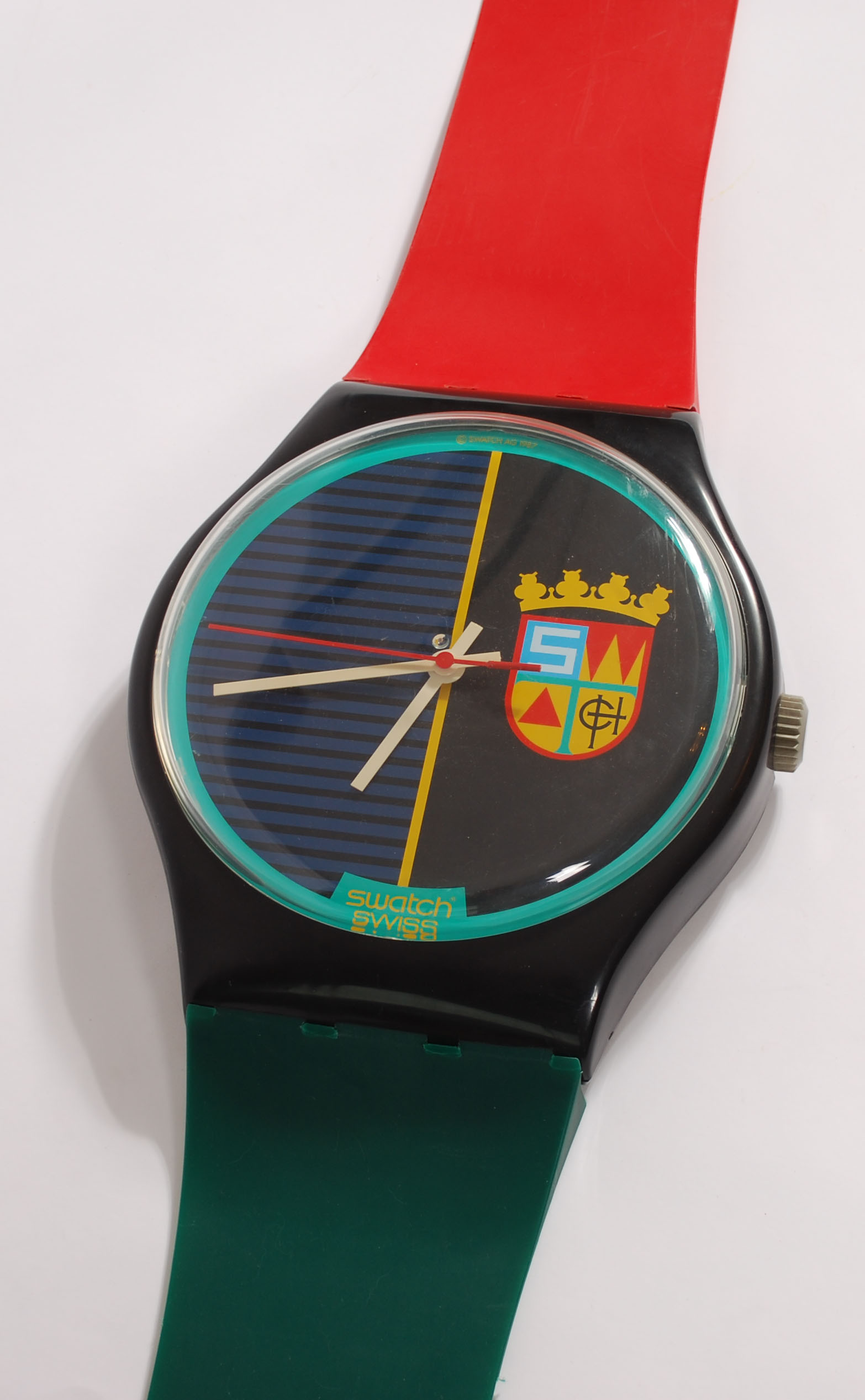 """Maxi Swatch wall clock, 1987 """"Sir Swatch"""" MGB111  - AVAILABLE"""