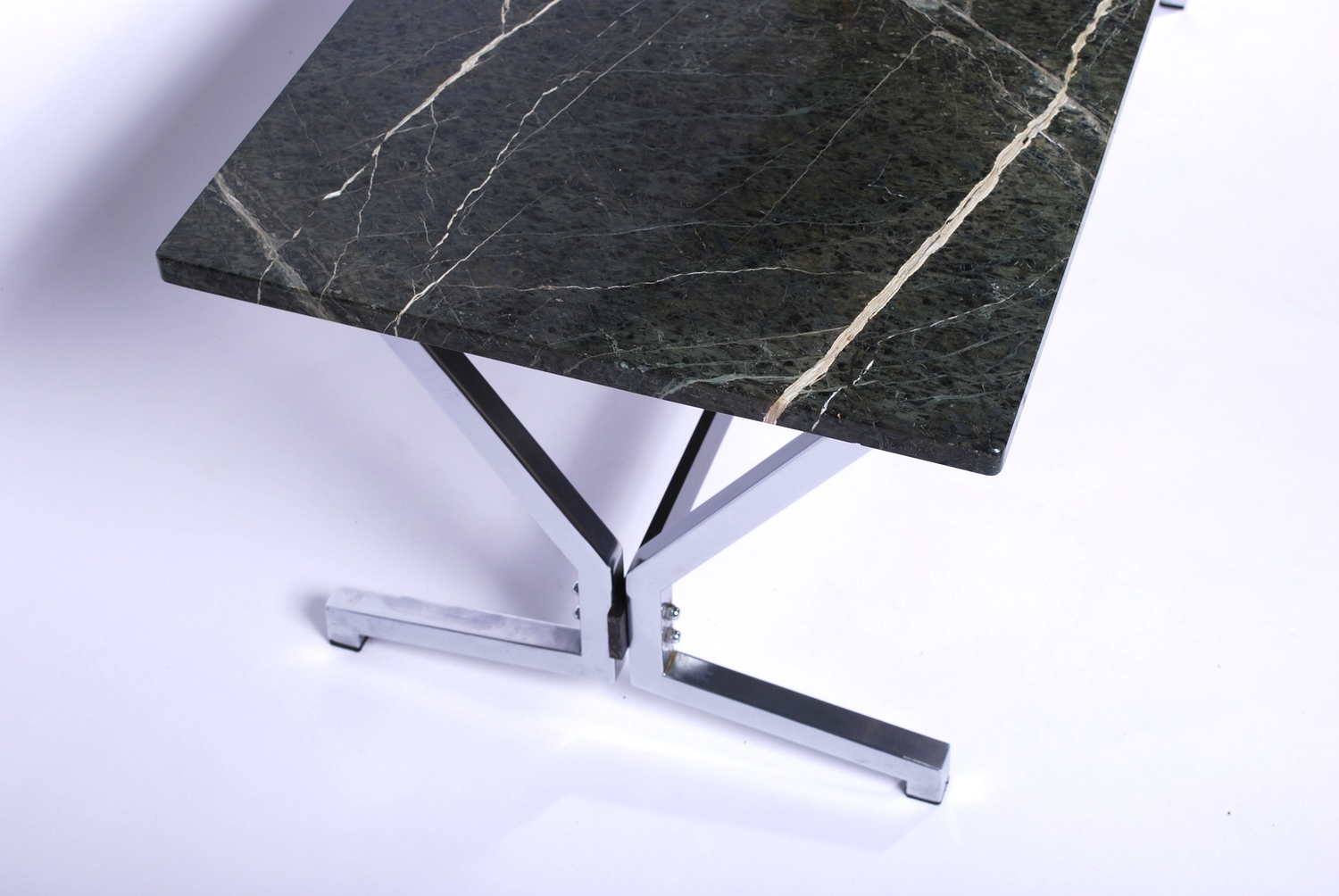 Green marble coffee table 60's