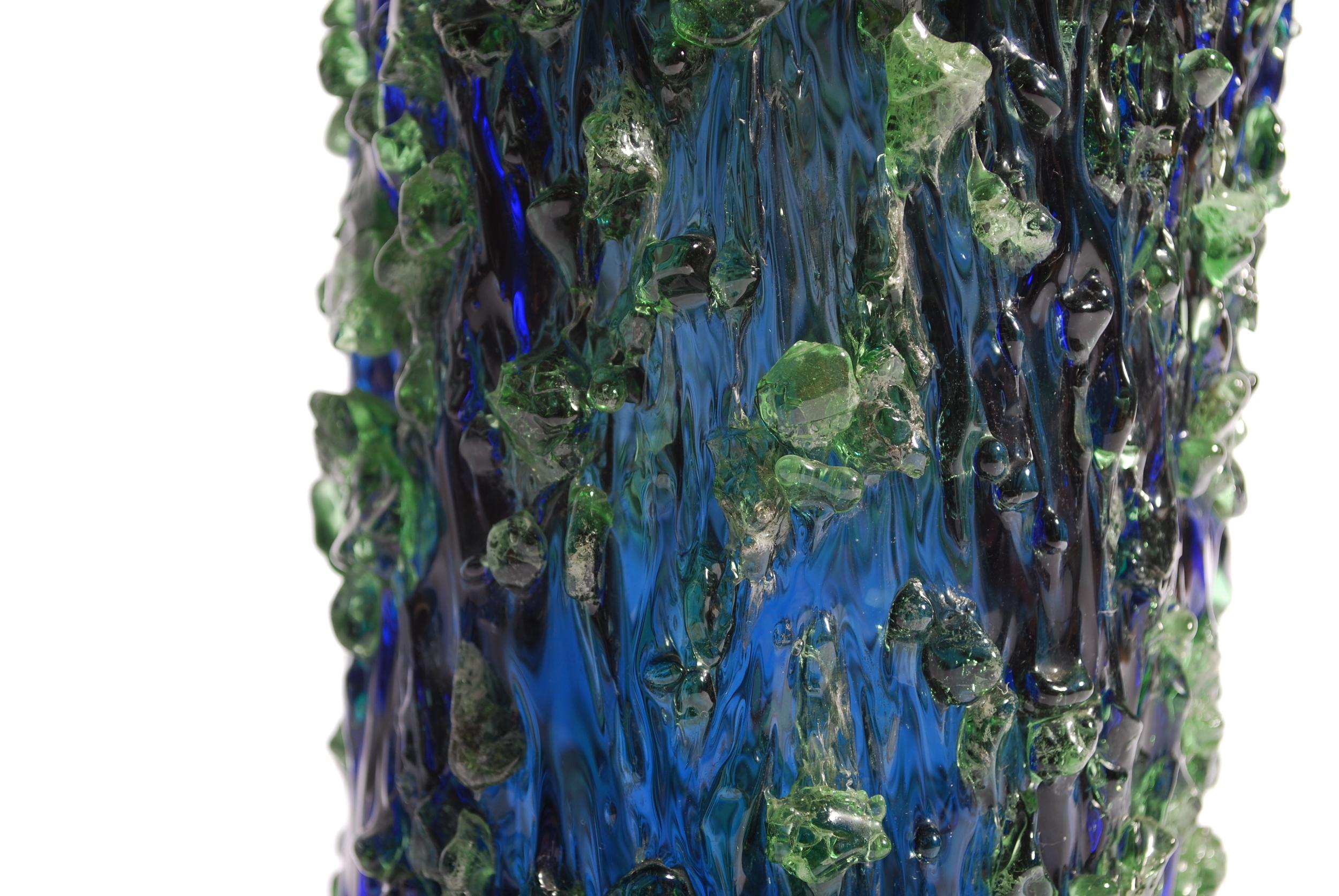 Bohemian Czech Sculptural Studio Vase Galaxy - Miloslava Svobodova - Skrdlovice 60's