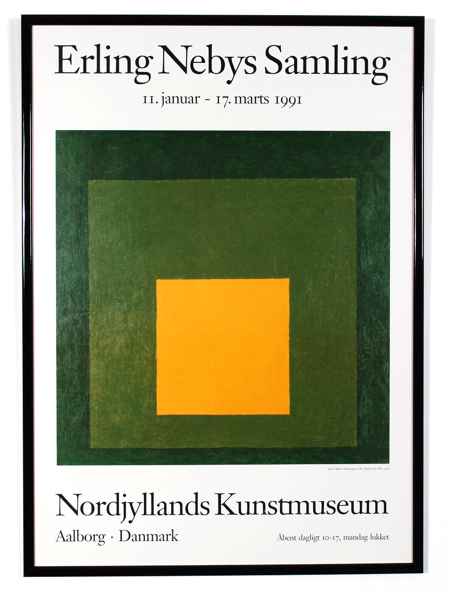 Original poster Erling Nebys Samling - Nordjyllands Kunstmuseum - Aalborg Danmark - 1991