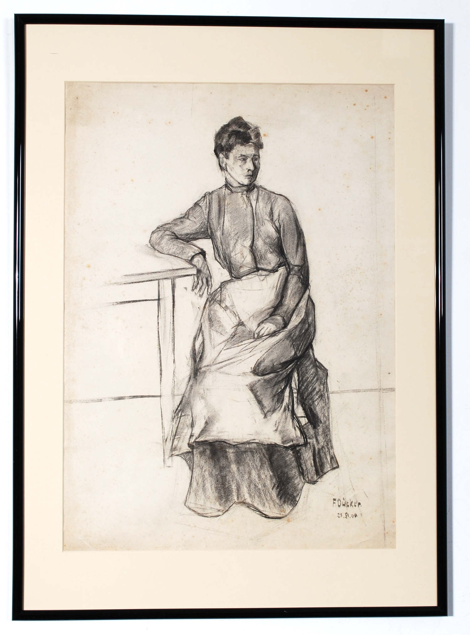 Original sketch made by German student of Art in 1906, signed  - AVAILABLE