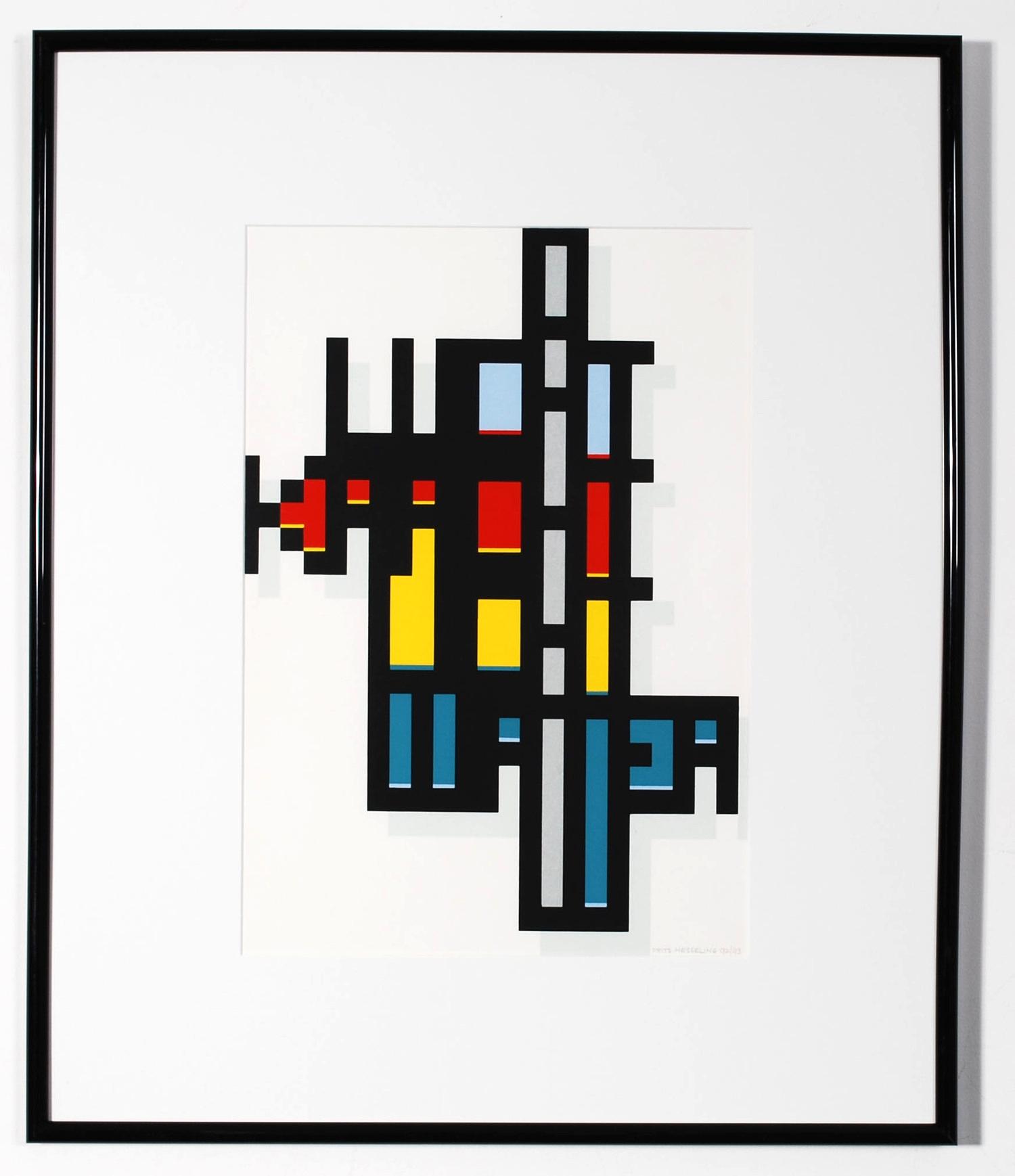 Serigraphy Frits Hesseling, Framed, 92/93