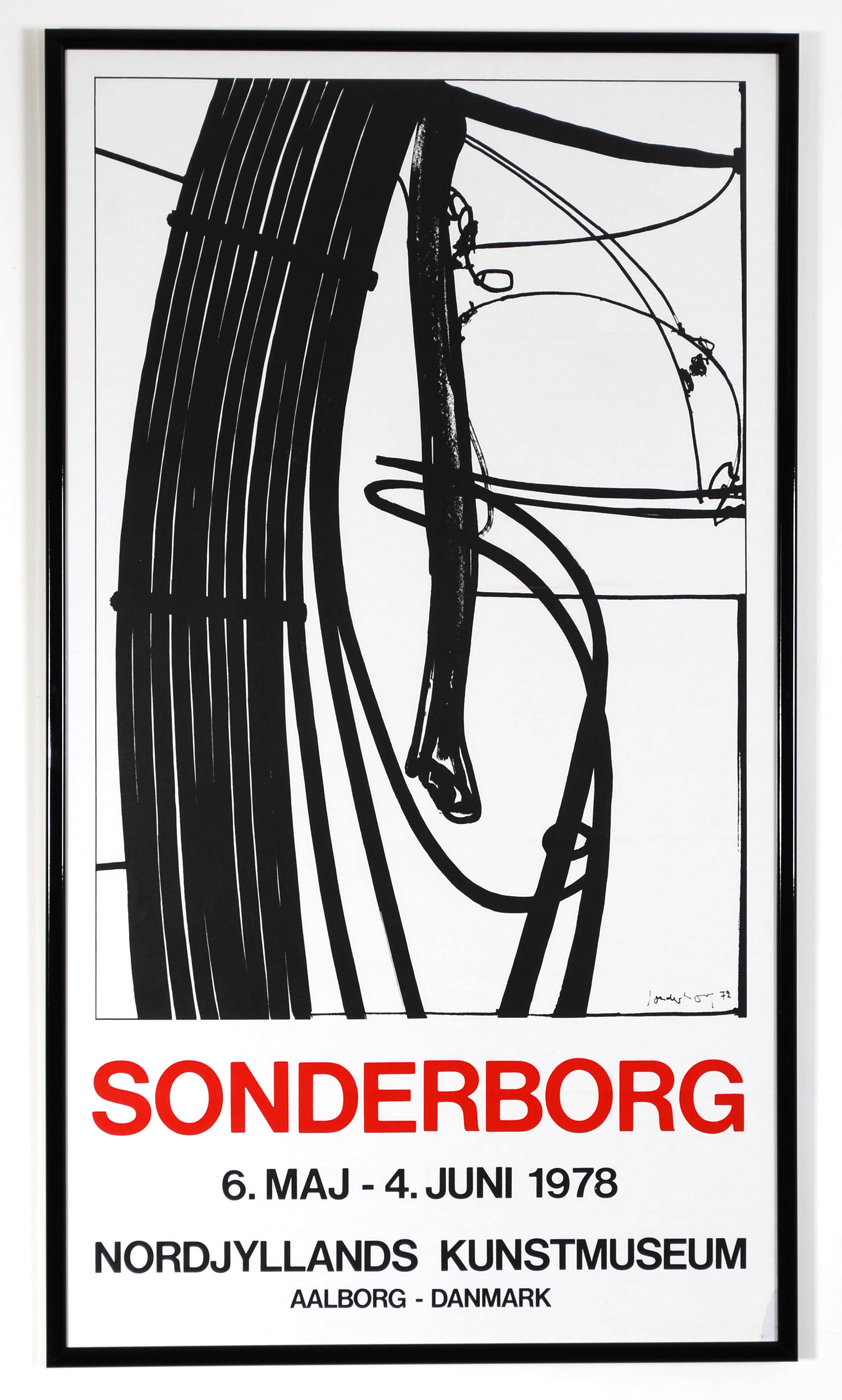 Original poster Sonderborg - Nordjyllands Kunstmuseum - Aalborg Danmark - 1978  - AVAILABLE