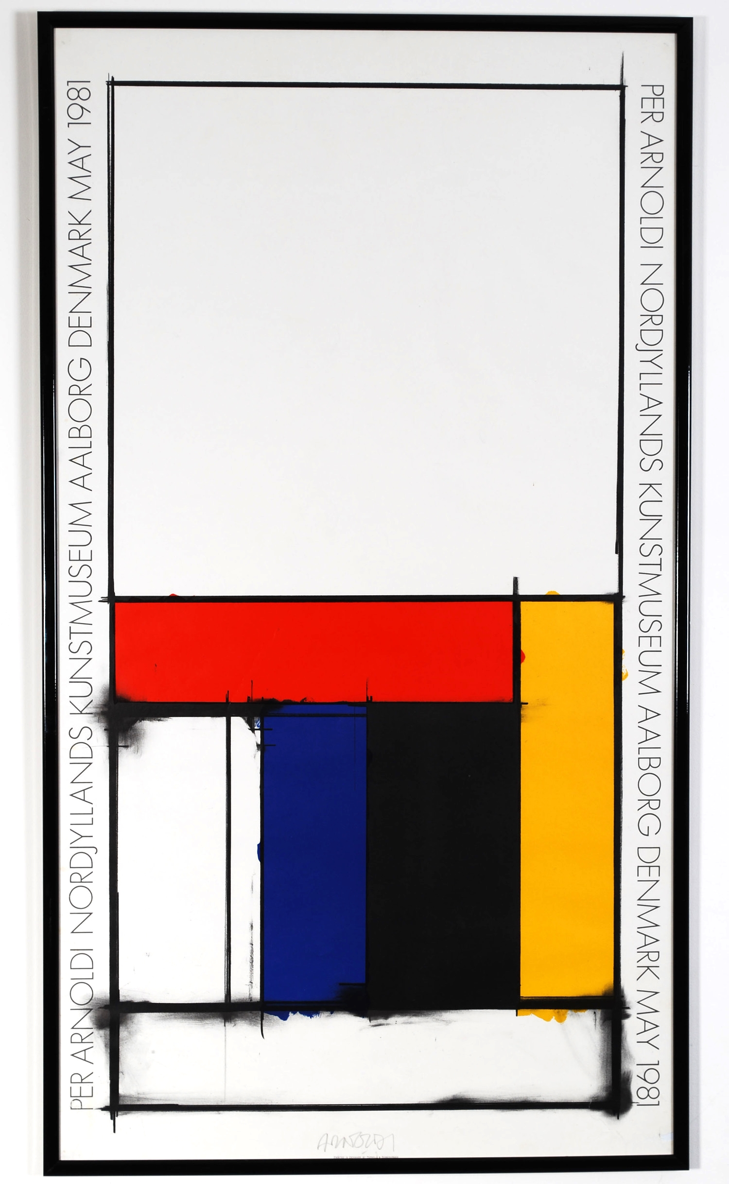 Original poster Per Arnoldi - Nordjyllands Kunstmuseum - Aalborg Denmark - 1981 (signed by author) -  AVAILABLE