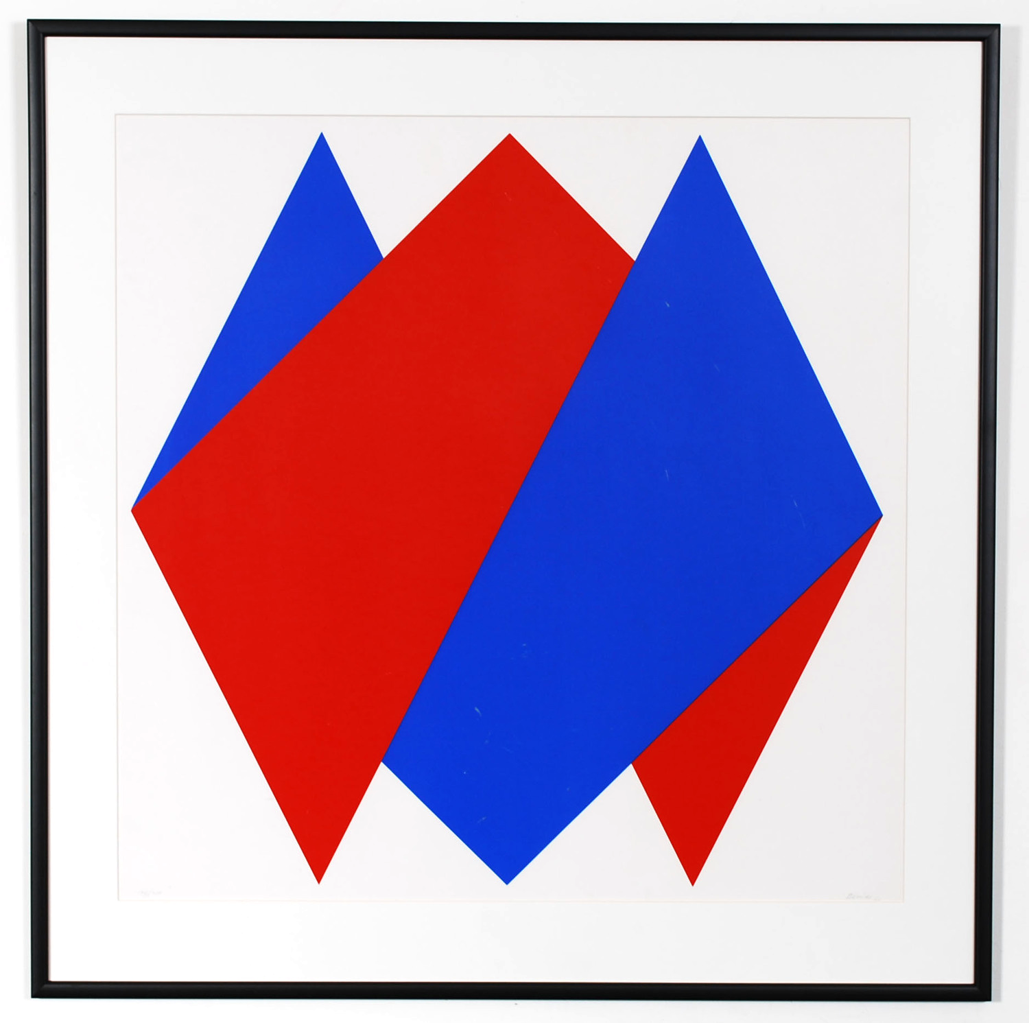 Red Blue Figures, screen print by Bob Bonies, signed 1969   - AVAILABLE