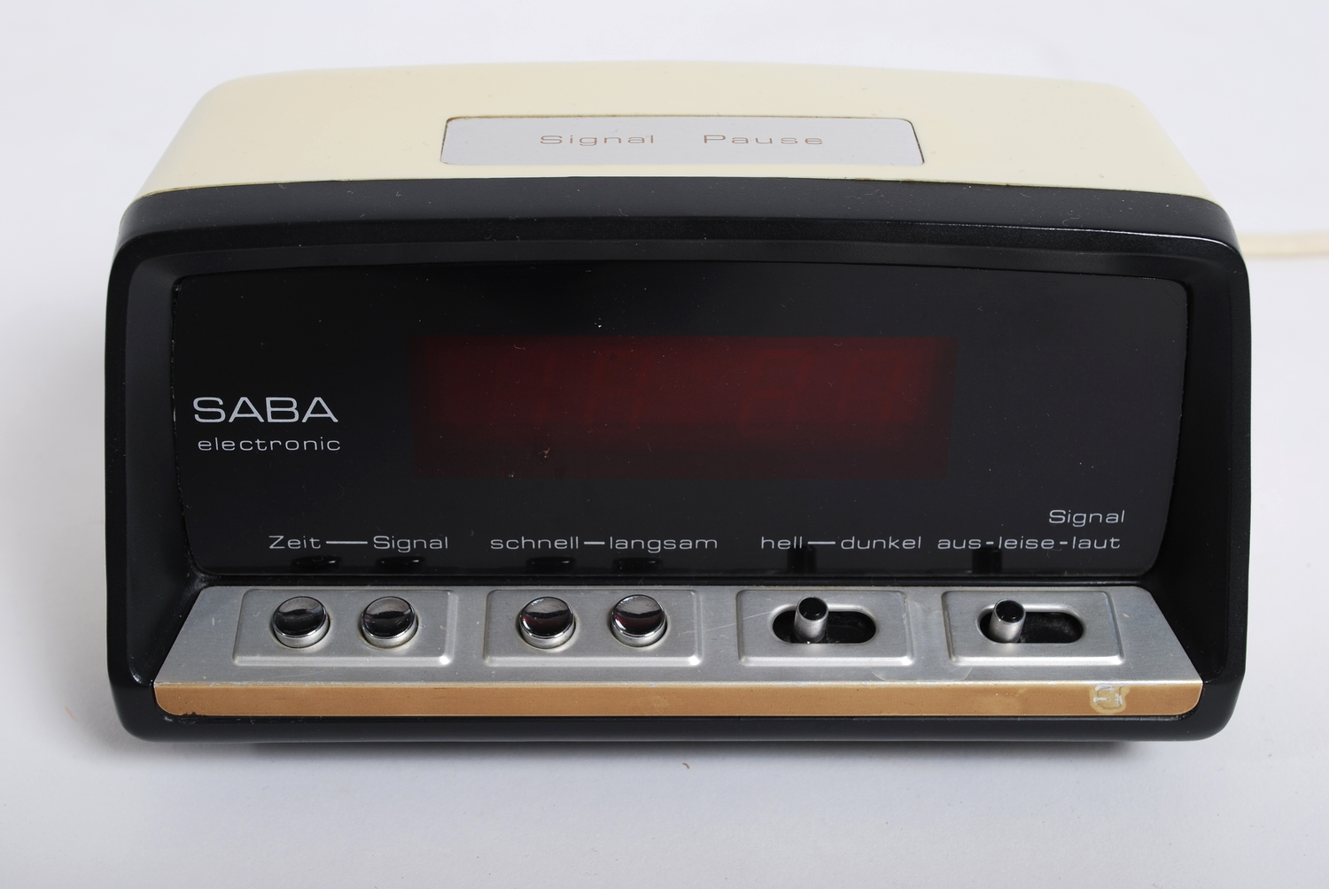 Alarm clock Saba EZ15, 70's, Germany