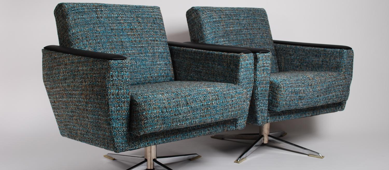 00000142 Lounge swivel pair chairs 50's vintage (11).JPG