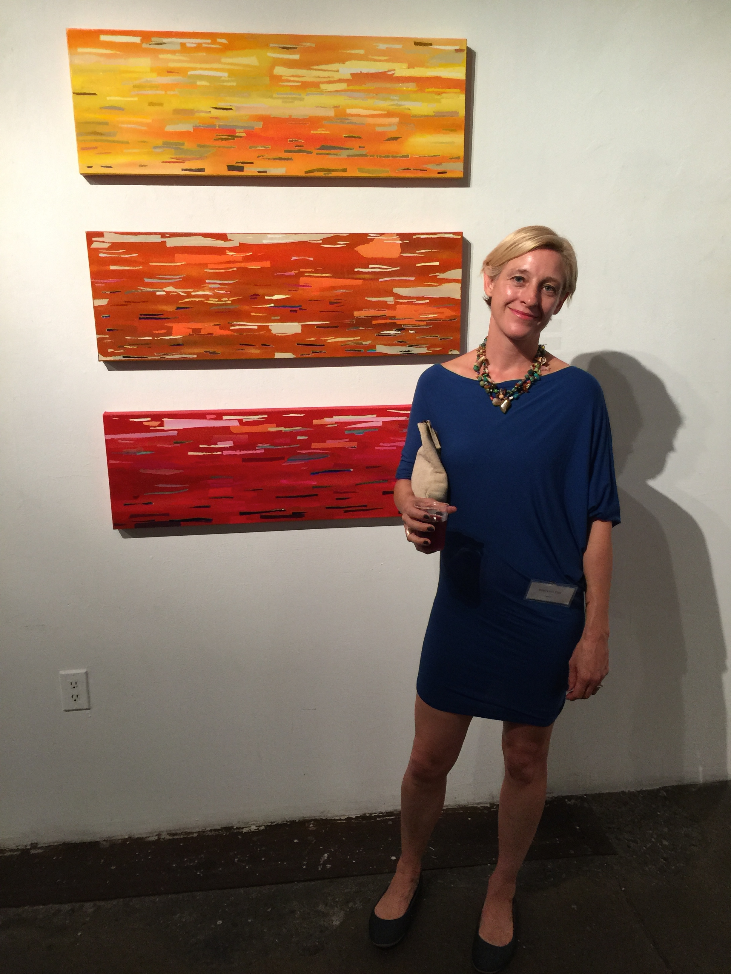 With my triptych at Opposite of Algebra exhibition