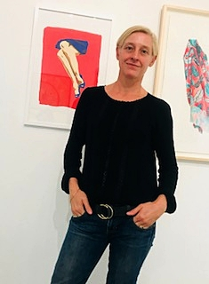 "Me next to my work - ""Legs"" a screen print featured in the Open Work exhibition at Gallery 825 - Juried by Anna Katz assistant Curator from MOCA. Exhibition runs from 16th December 2017 - 12 January 2018"