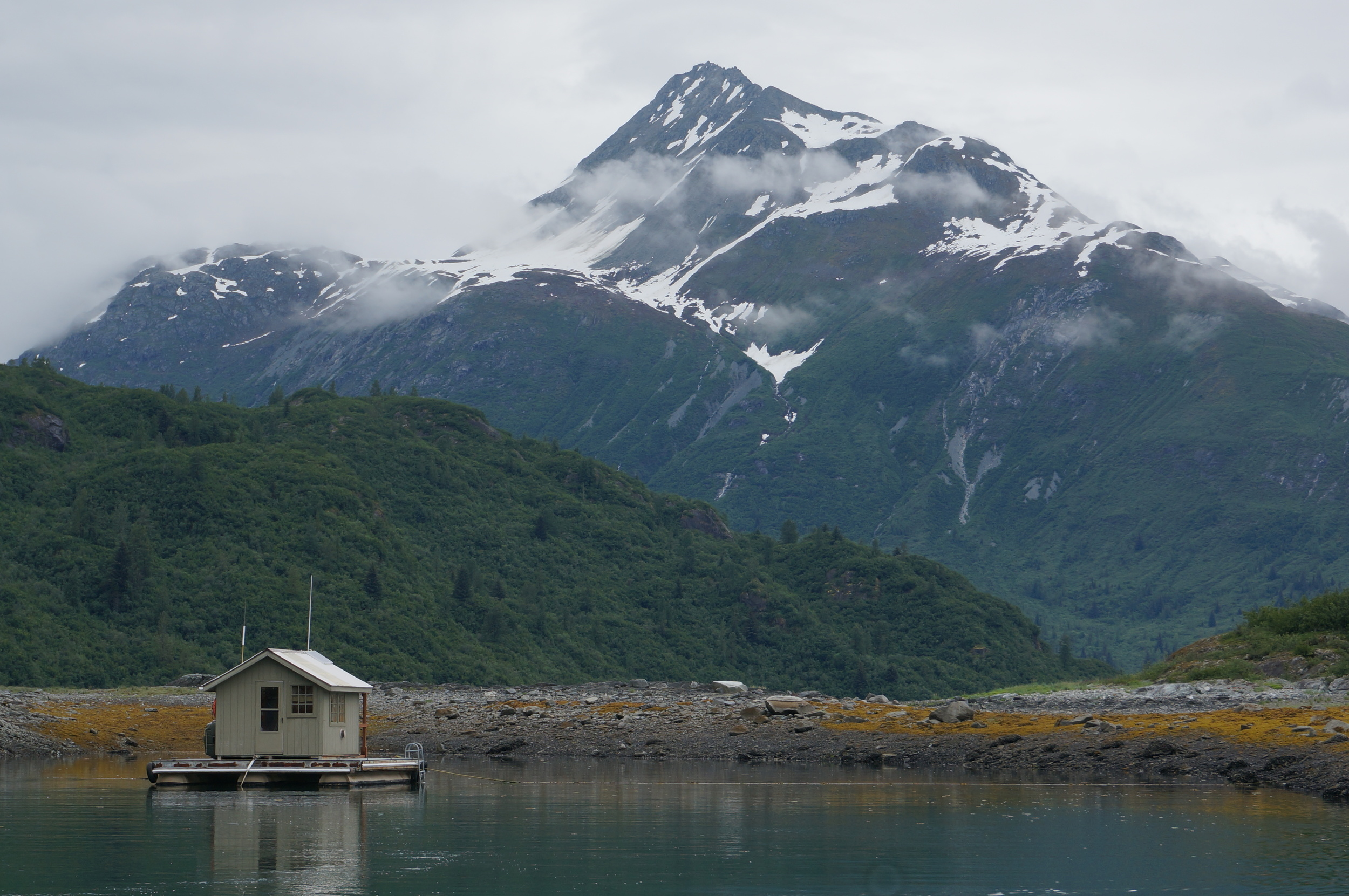 Leaving floathouse for the camping portion in Hugh Miller Inlet