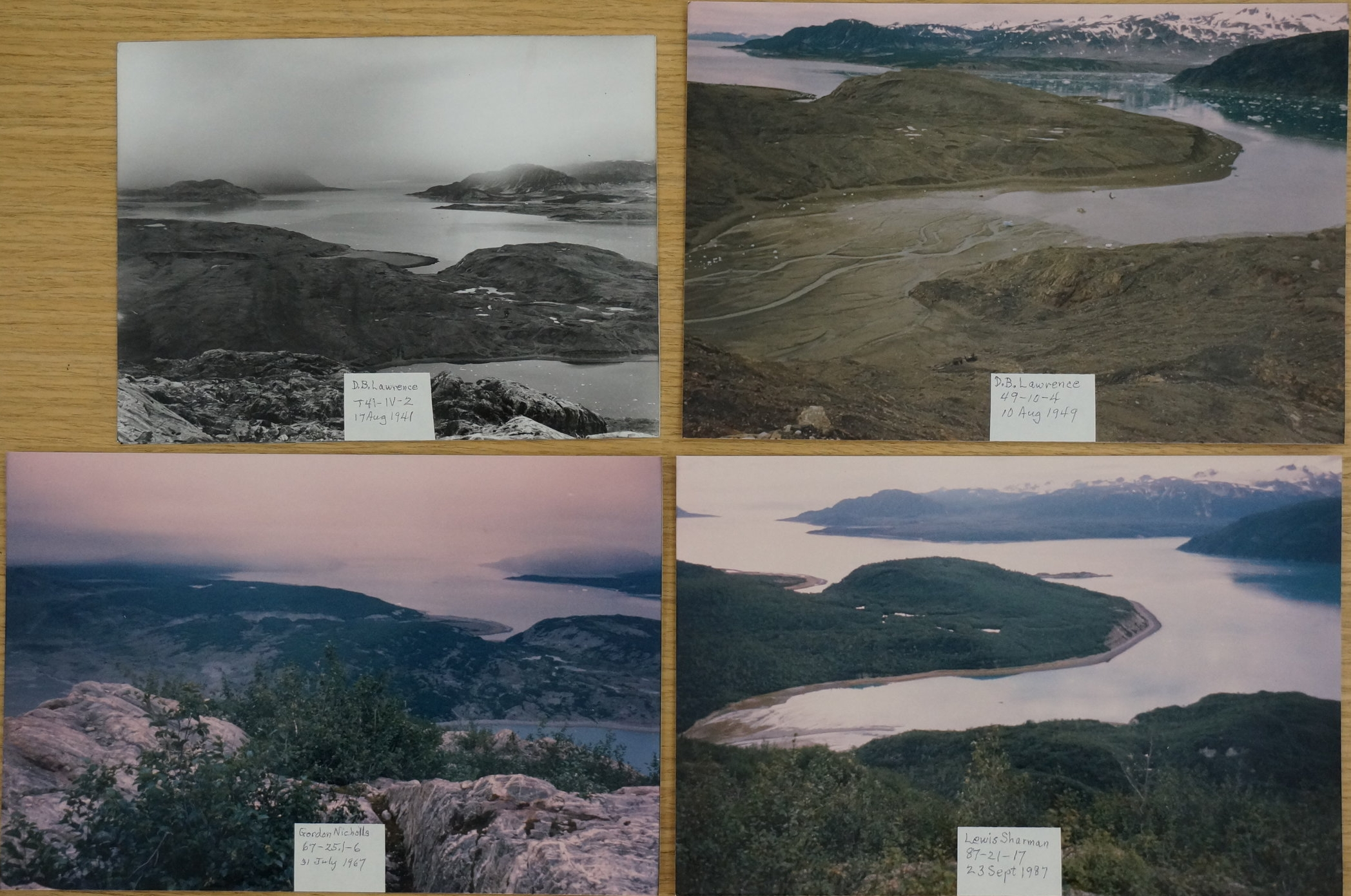 Four views from Nunatak Knob, a goal for the coming years.