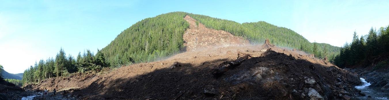 Starrigaven landslide, photo Sitka Conservation Society