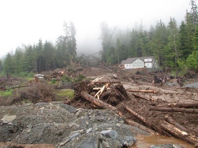 Kramer landslide in Sitka, 2015. It killed three people. Photo KCAW.