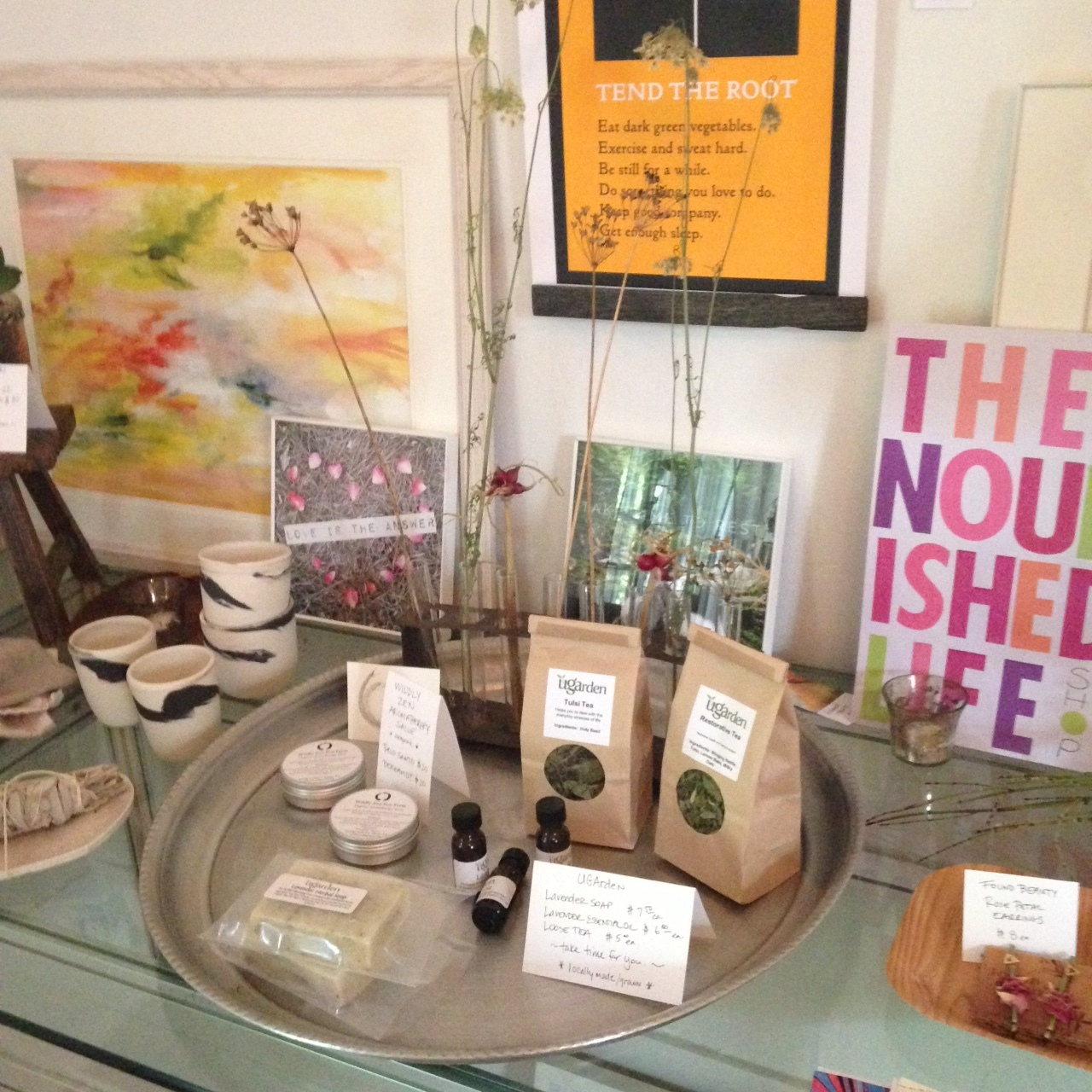 Remembering to nourish the senses. The Nourished Life pop up shop features locally-made products that inspire healthy living and support our community of artisans and alchemists.