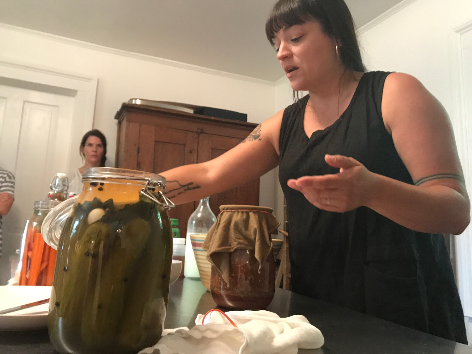 Health education that is fun,interactive,doable -- and fits into real life! Mother, maker and fermented food enthusiast, Amanda Kapasouz, gives a demonstration on some of her favorite homemade ferments.