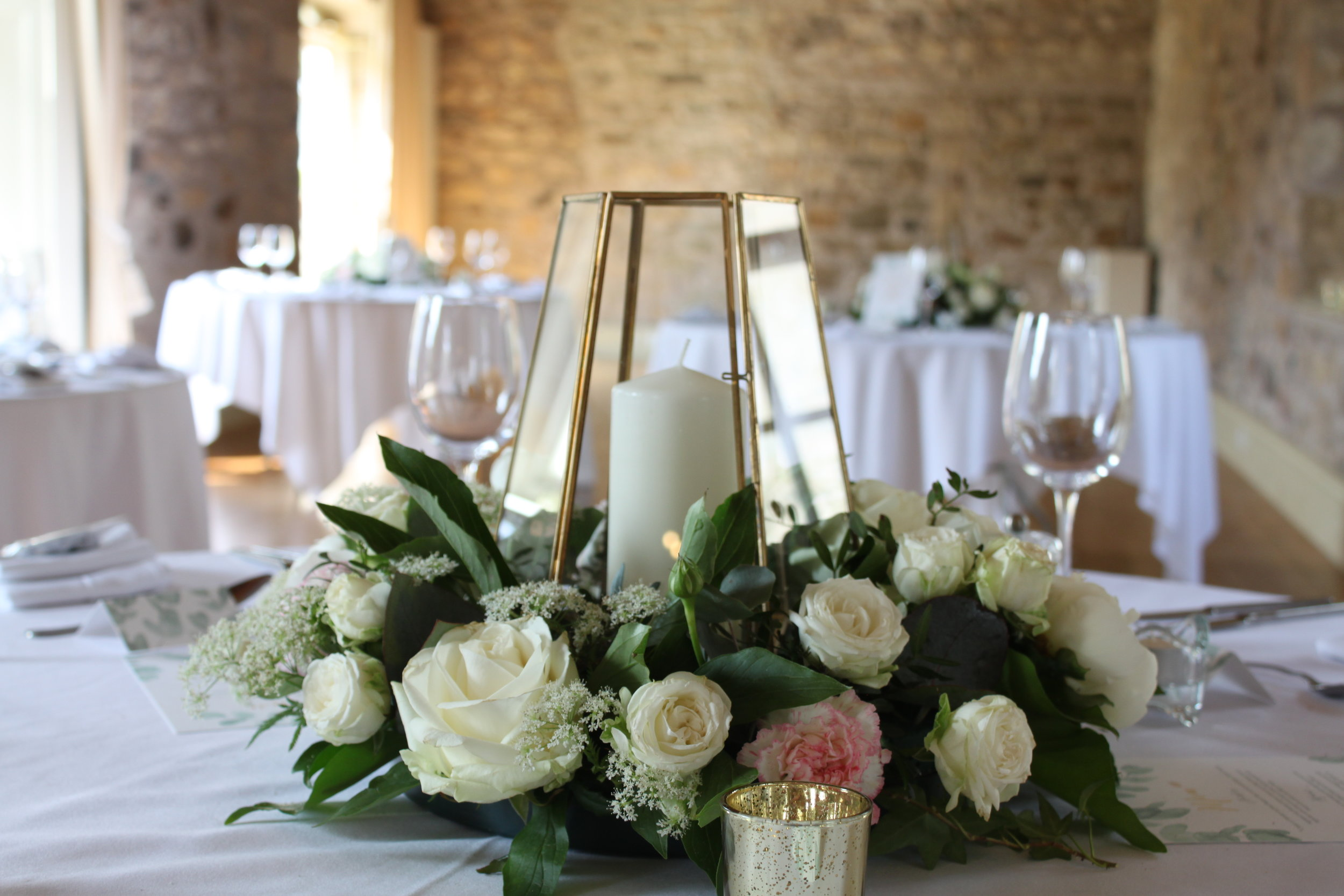 Floral Range - Our in house florists provide a stunning range of fresh floral centrepieces to cater for all budgets. With our huge range of vases we can provide a floral display to suit any style or theme.From only £20 each.