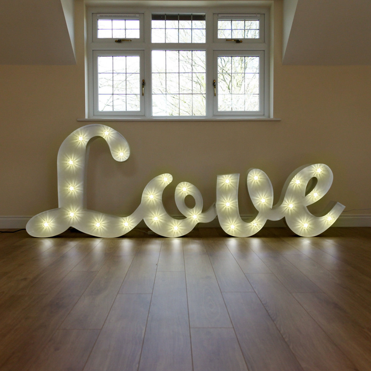Luxury LOVE - Our new luxury metal signature love letters will stand out at any event!. Standing at nearly 4ft high and over 2 metres in length. These marquee give out over 2,000 watts of beaming Hollywood style light!Hire for only £100.