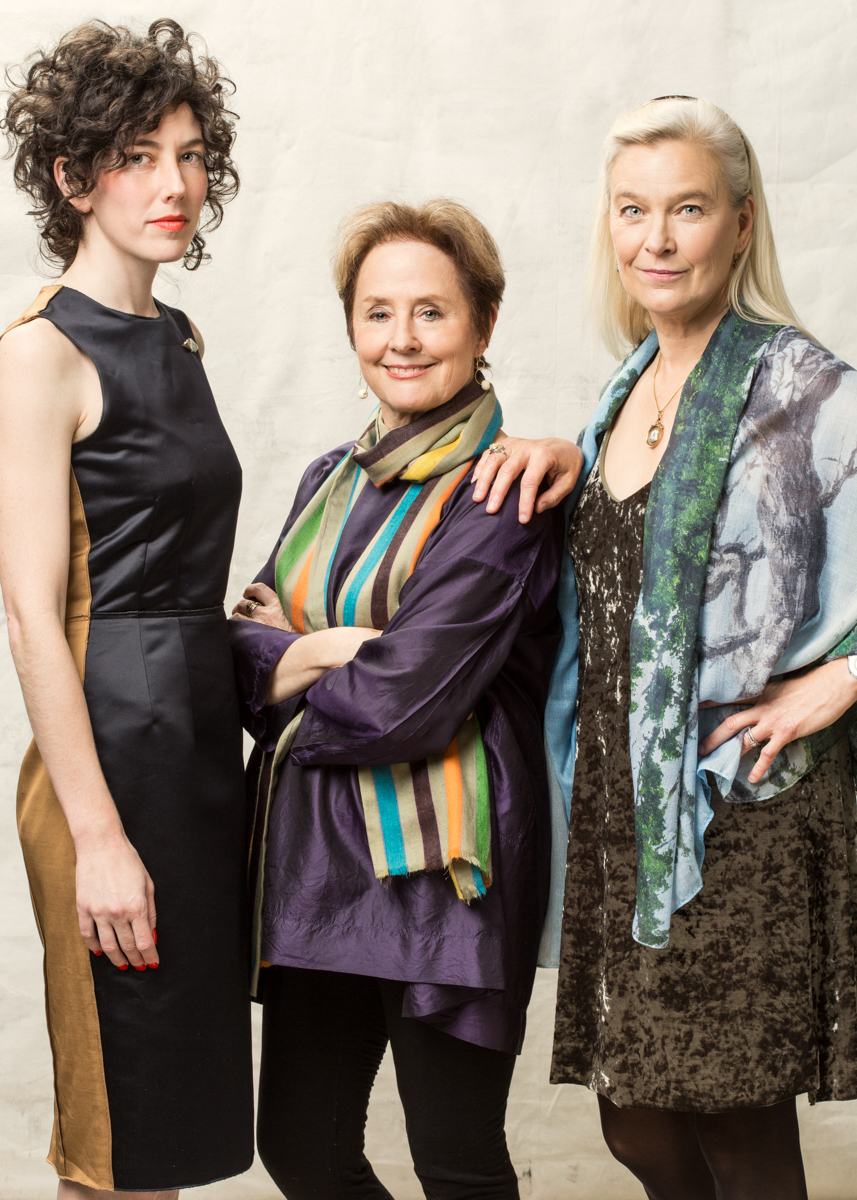 Sarah Weiner, Alice Waters and Nell Newman