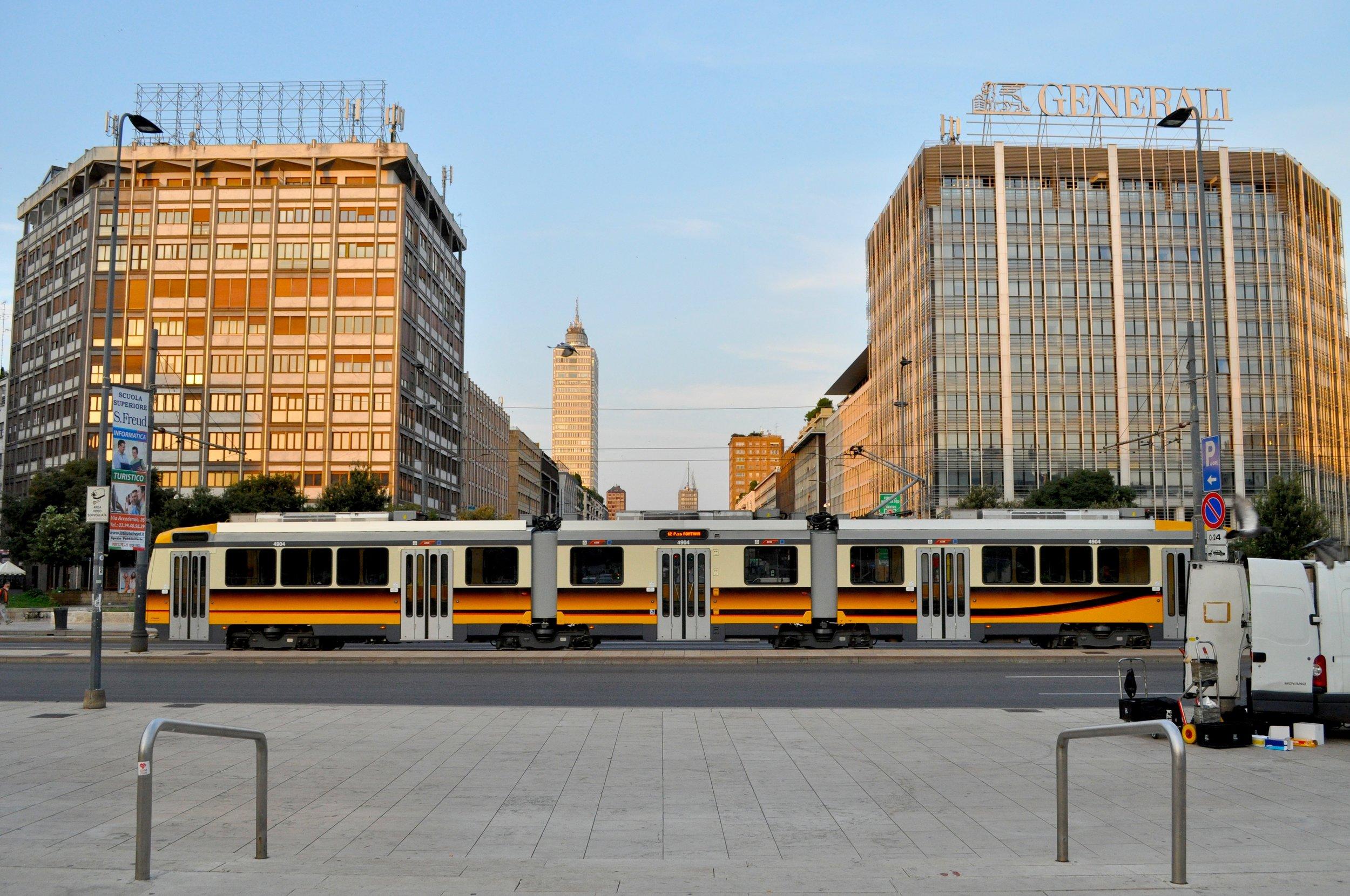 Tram At Sunrise T.JPG