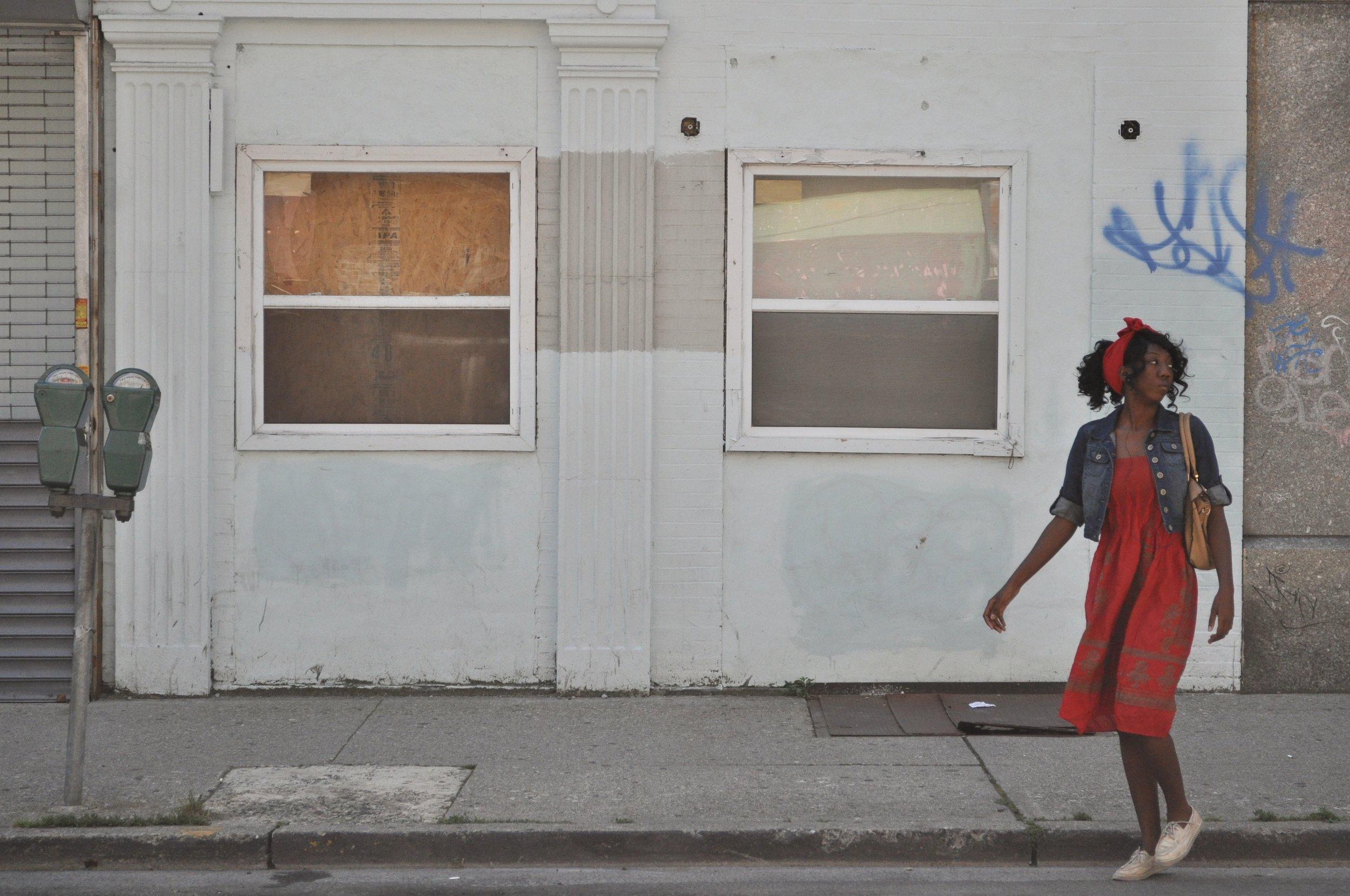 Girl On Van Houten Street T.JPG