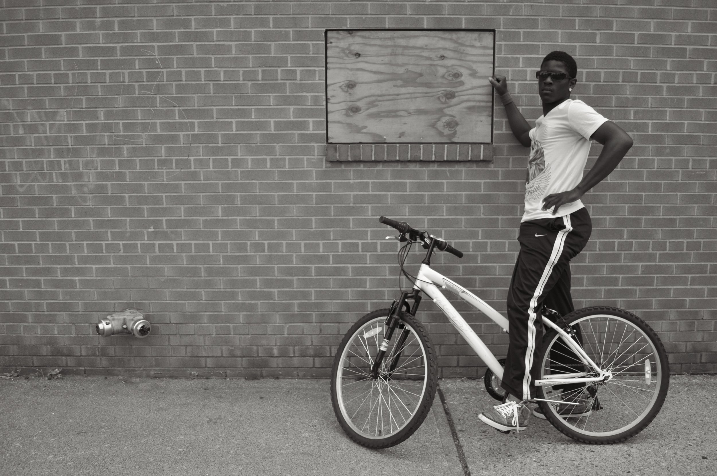 Robert And His Bike T.JPG