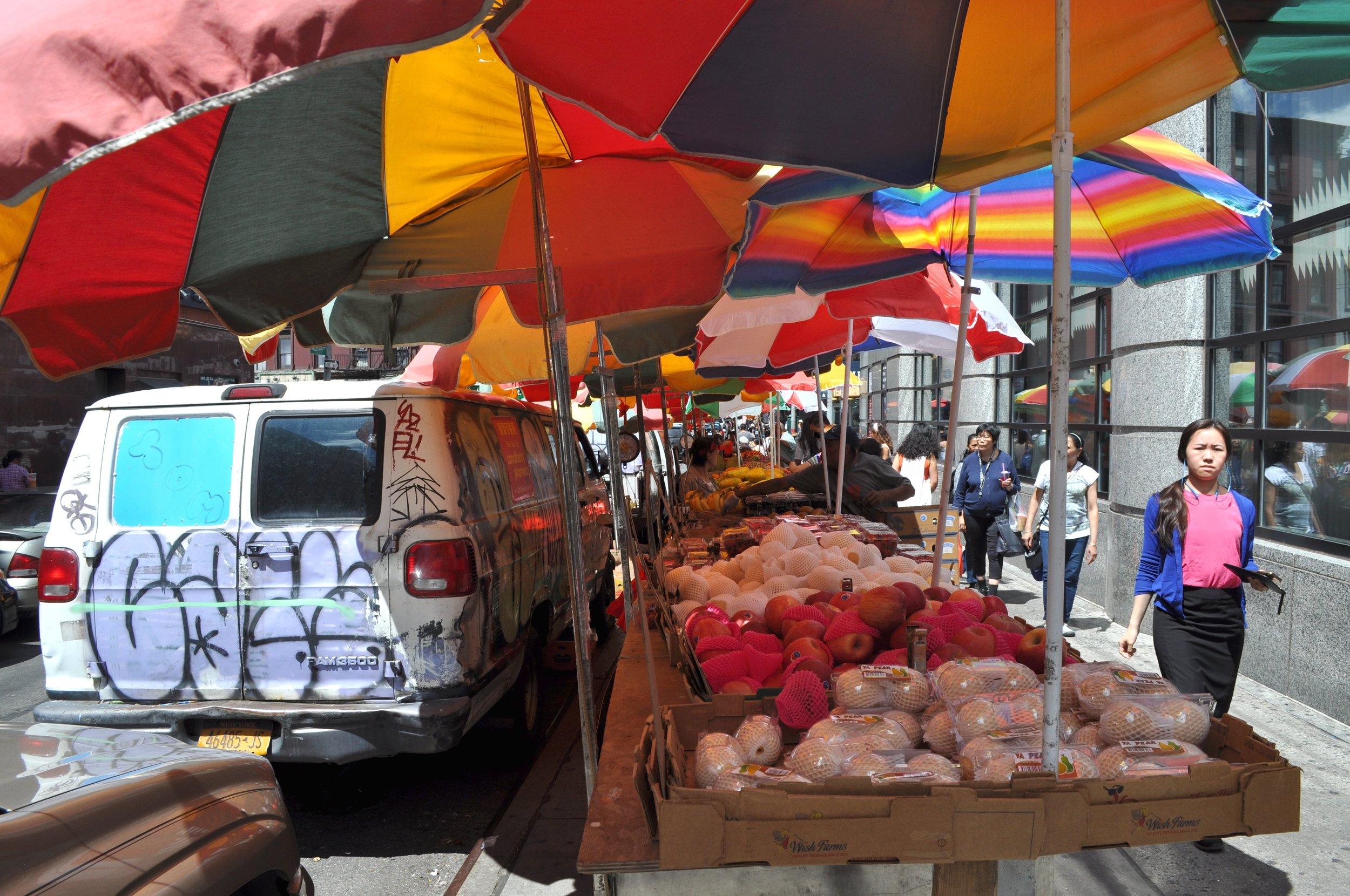 Under Colored Umbrellas T.JPG